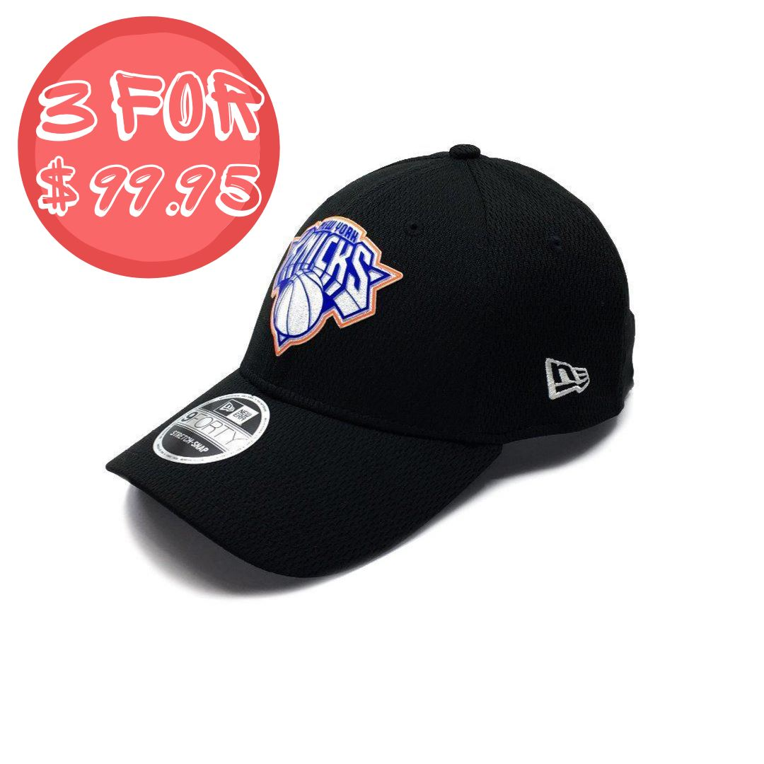 New Era 9Forty New York Knicks Stretch Snap - Black SP-Headwear-Caps New Era