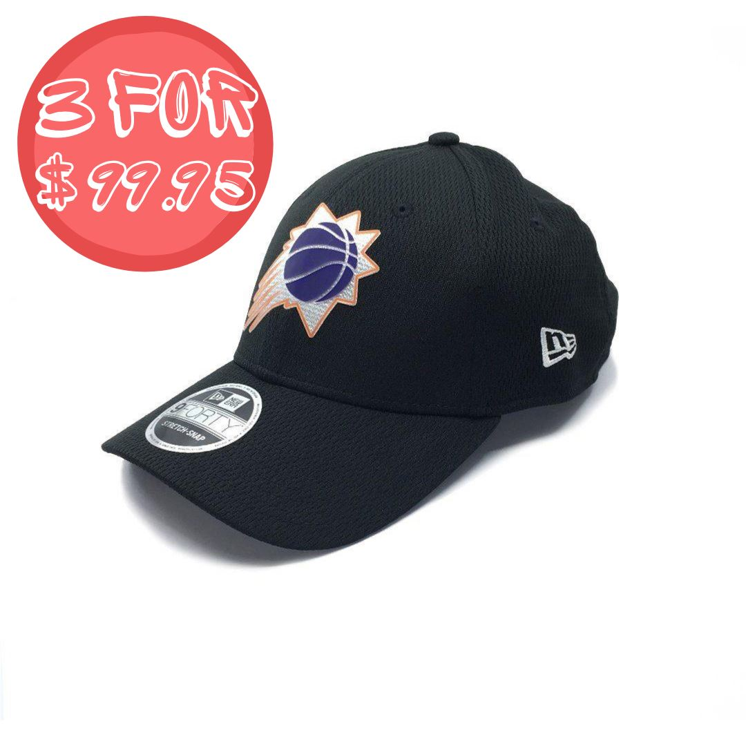 New Era 9Forty Phoenix Suns Stretch Snap - Black SP-Headwear-Caps New Era