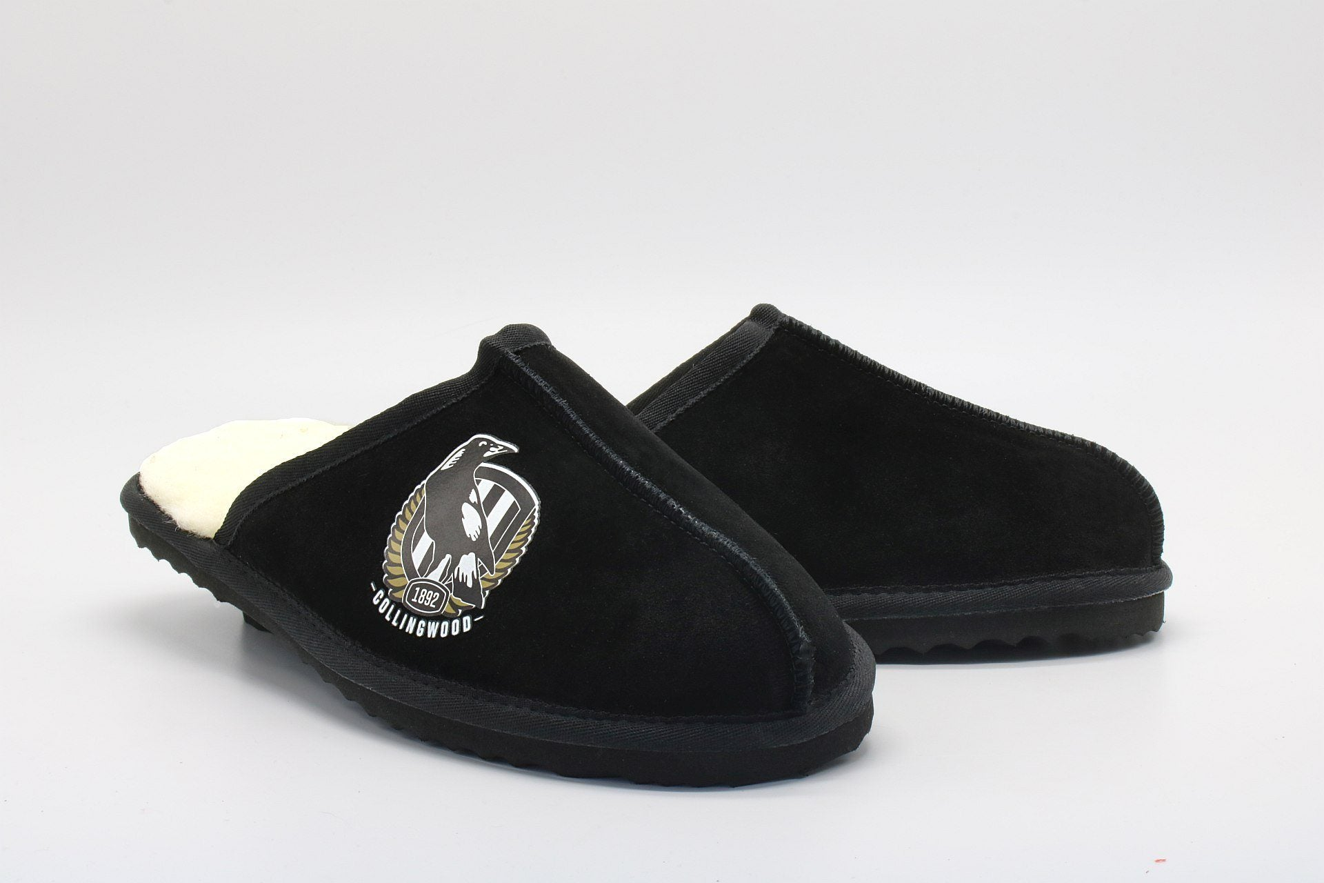 AFL Adults Slippers - Collingwood Magpies Footwear Team Uggs