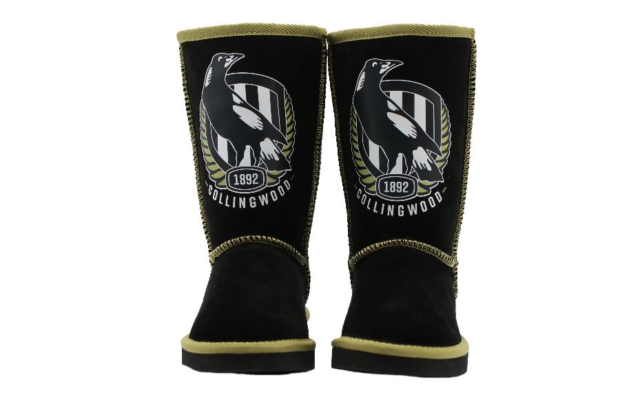 AFL Adult Ugg Boots - Collingwood Magpies Footwear Team Uggs