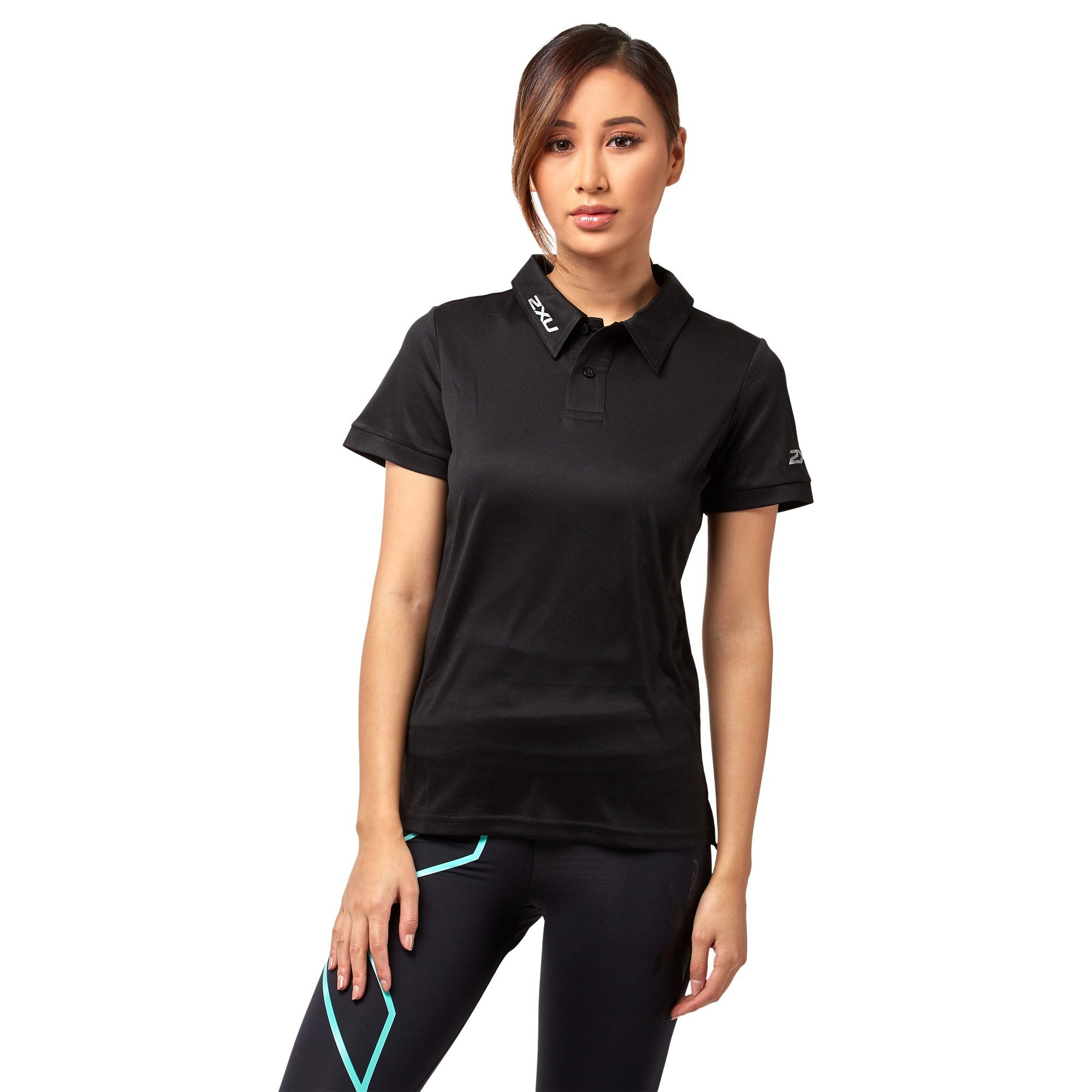 2XU Women's Performance Polo - Black Apparel 2XU