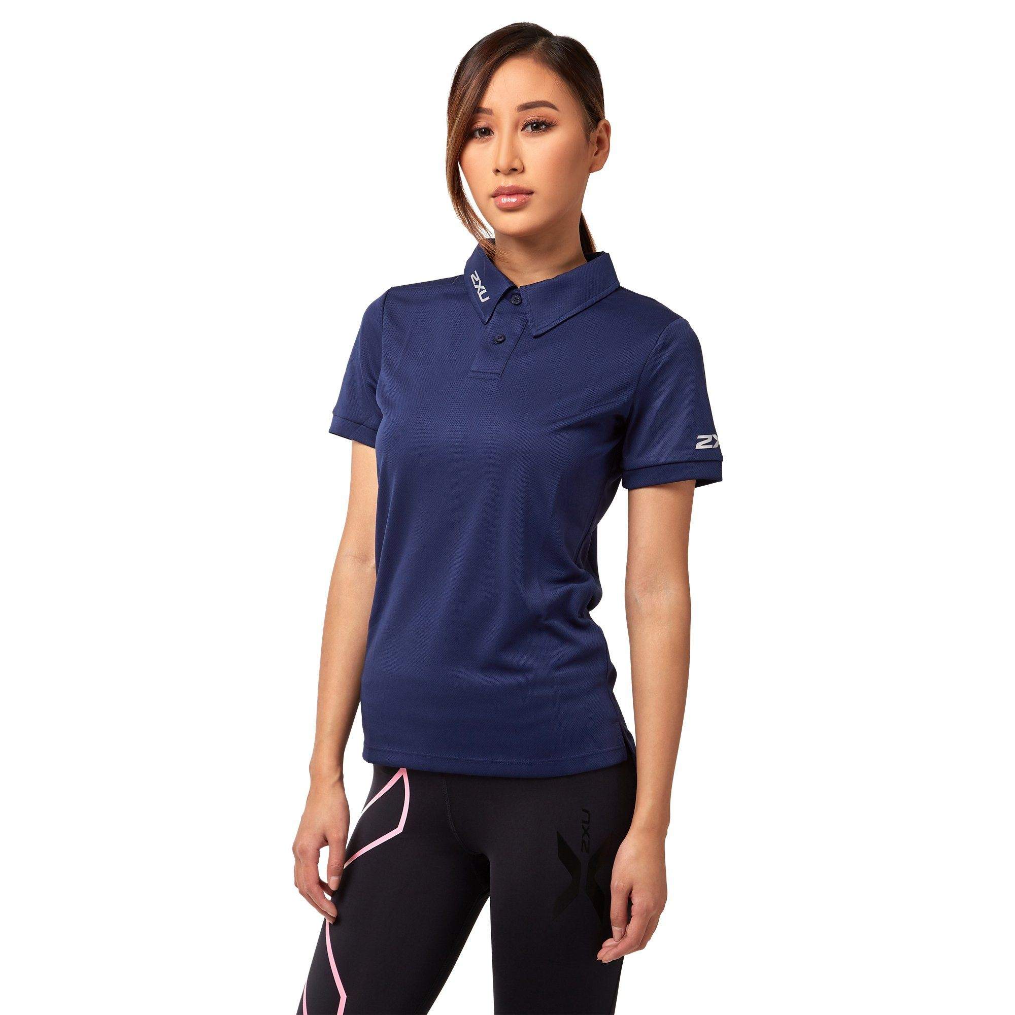 2XU Women's Performance Polo - Navy Apparel 2XU