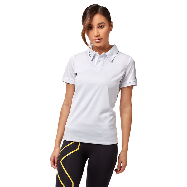 2XU Women's Performance Polo - White Apparel 2XU
