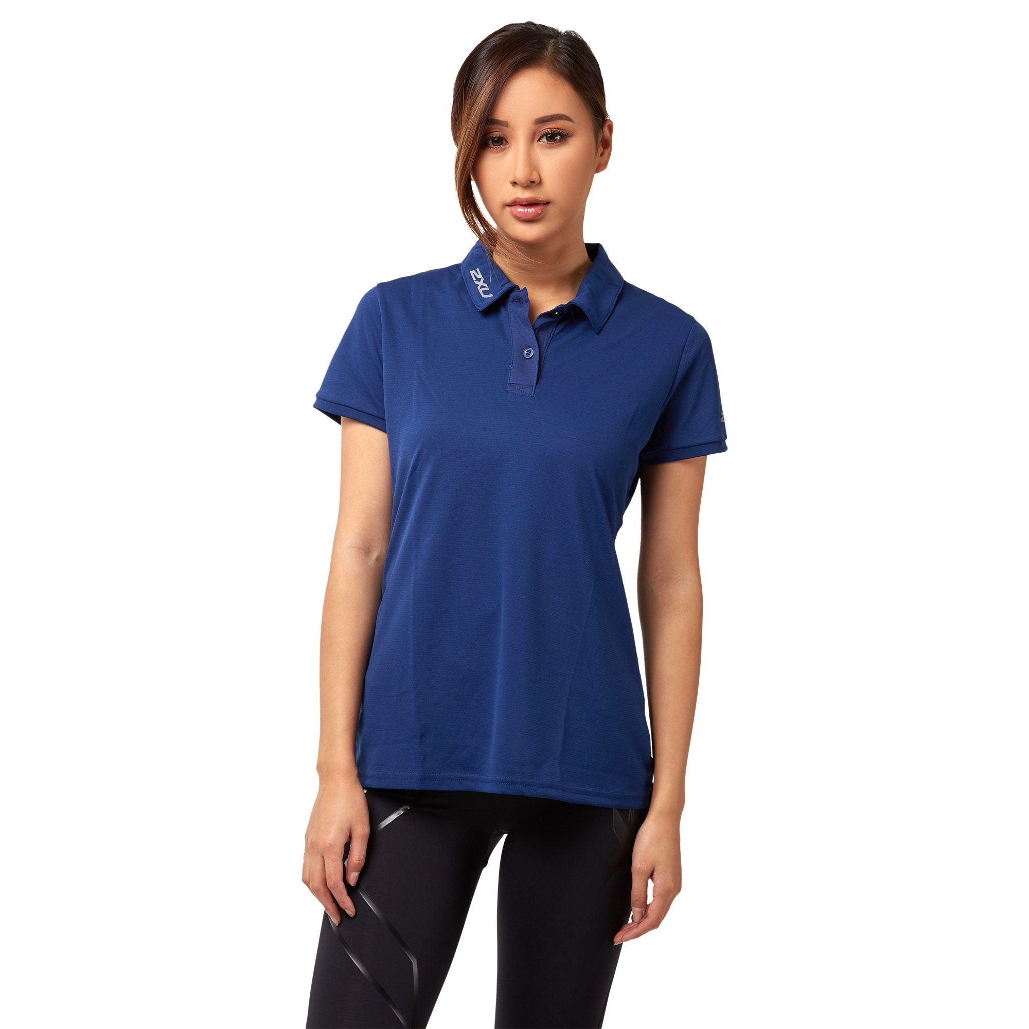2XU Women's ACTIVE Polo - Navy Apparel 2XU