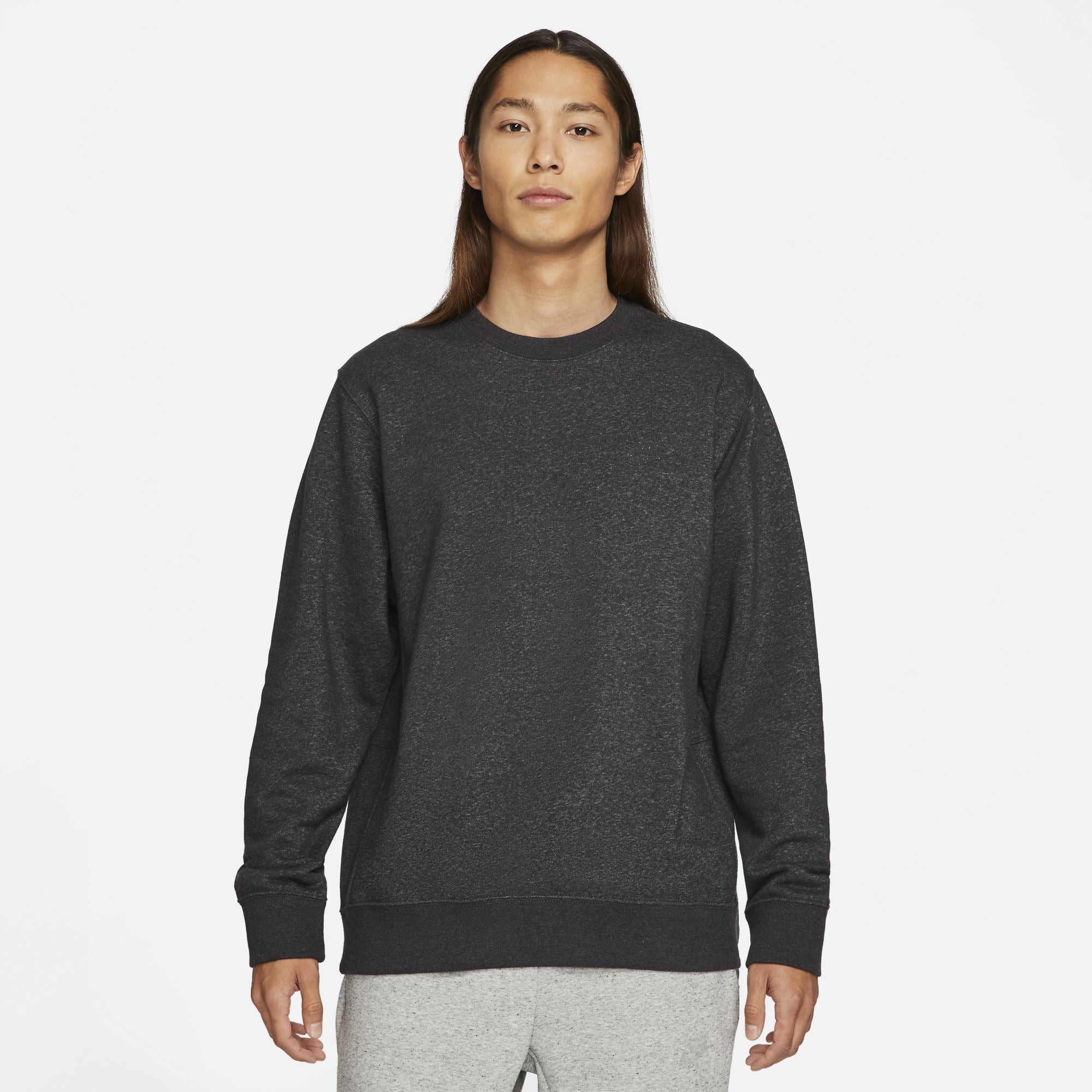 Nike Sportswear Men's Crew - Black/Dk Smoke Grey SP-ApparelFleece-Mens Nike