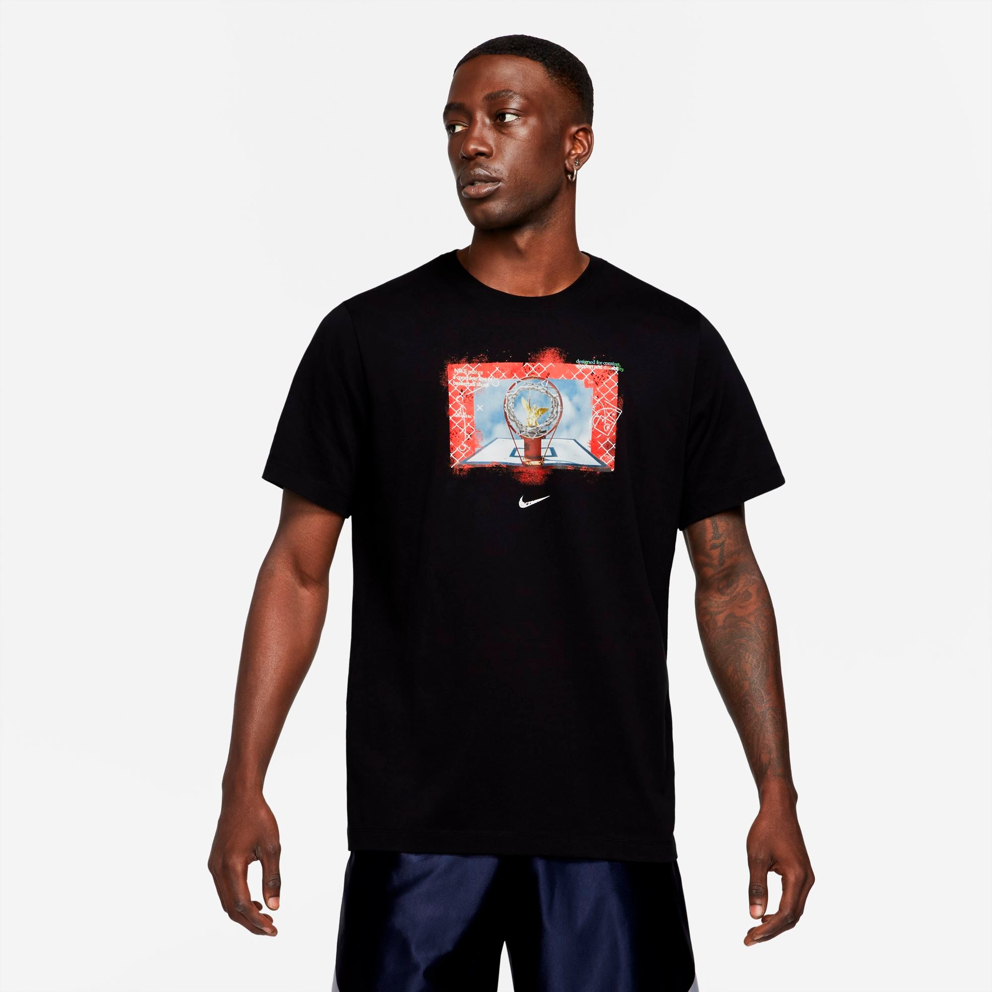 Nike Mens Dri-Fit Photo Tee - Black SP-ApparelTees-Mens Nike