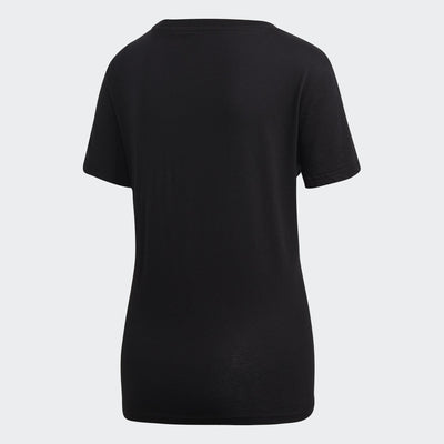 Adidas Womens Essentials Linear Tee - black-white Womens Apparel Adidas