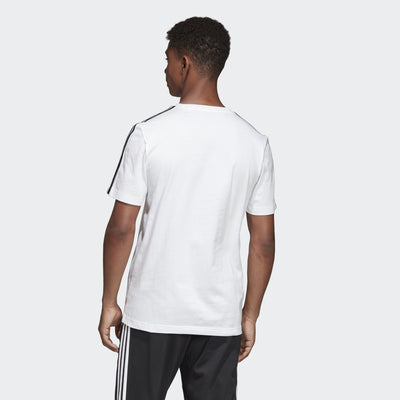Adidas Mens Essentials 3-Stripes Tee - white-black Mens Apparel Adidas