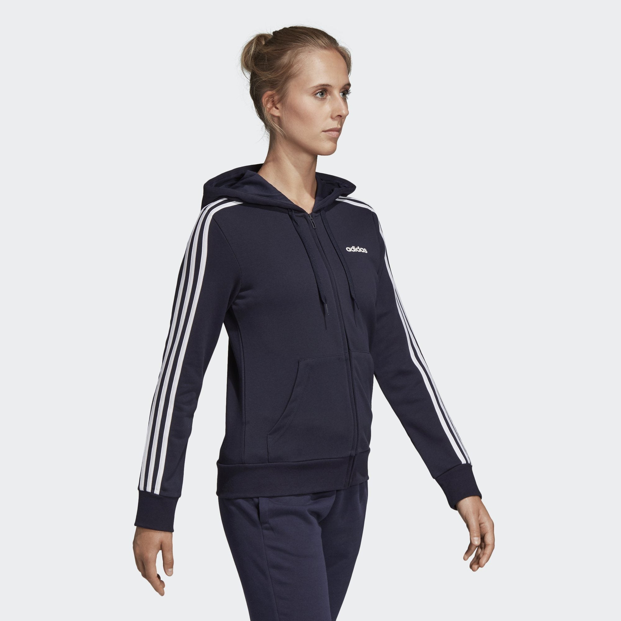 adidas Women's Essentials 3 Stripes Hoodie
