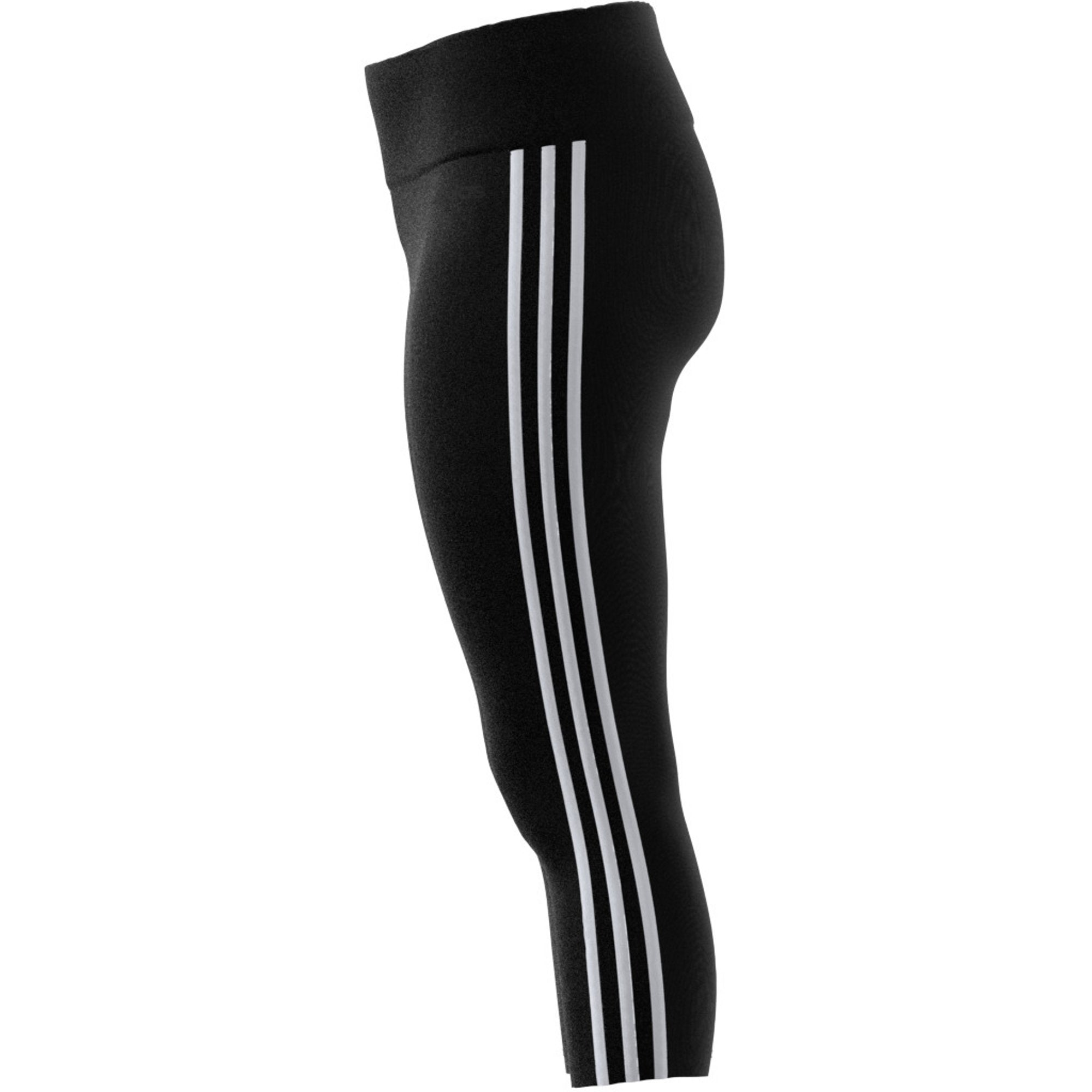 Adidas Womens Design 2 Move 3-Stripes 3/4 Tights - black/white