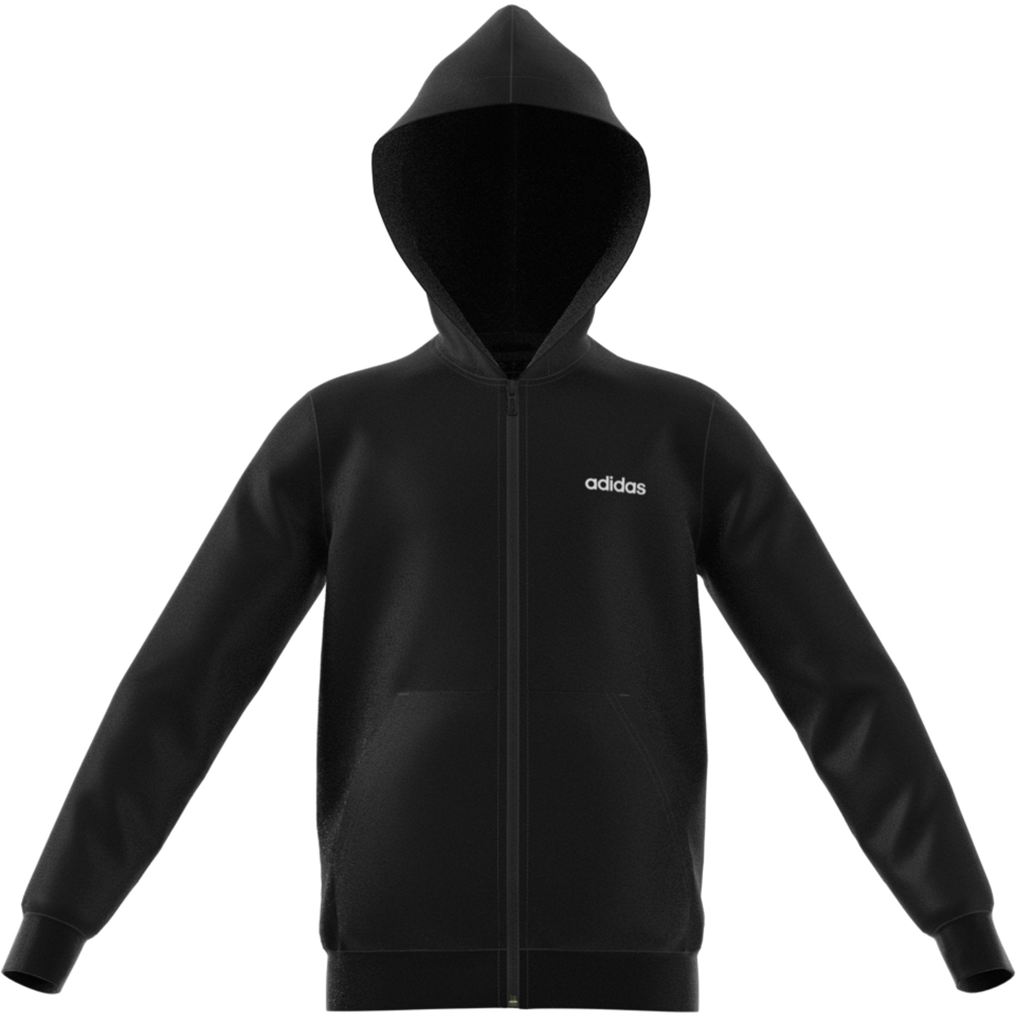 Adidas Boys Essentials Linear Hoodie - black-white Boys Apparel Adidas