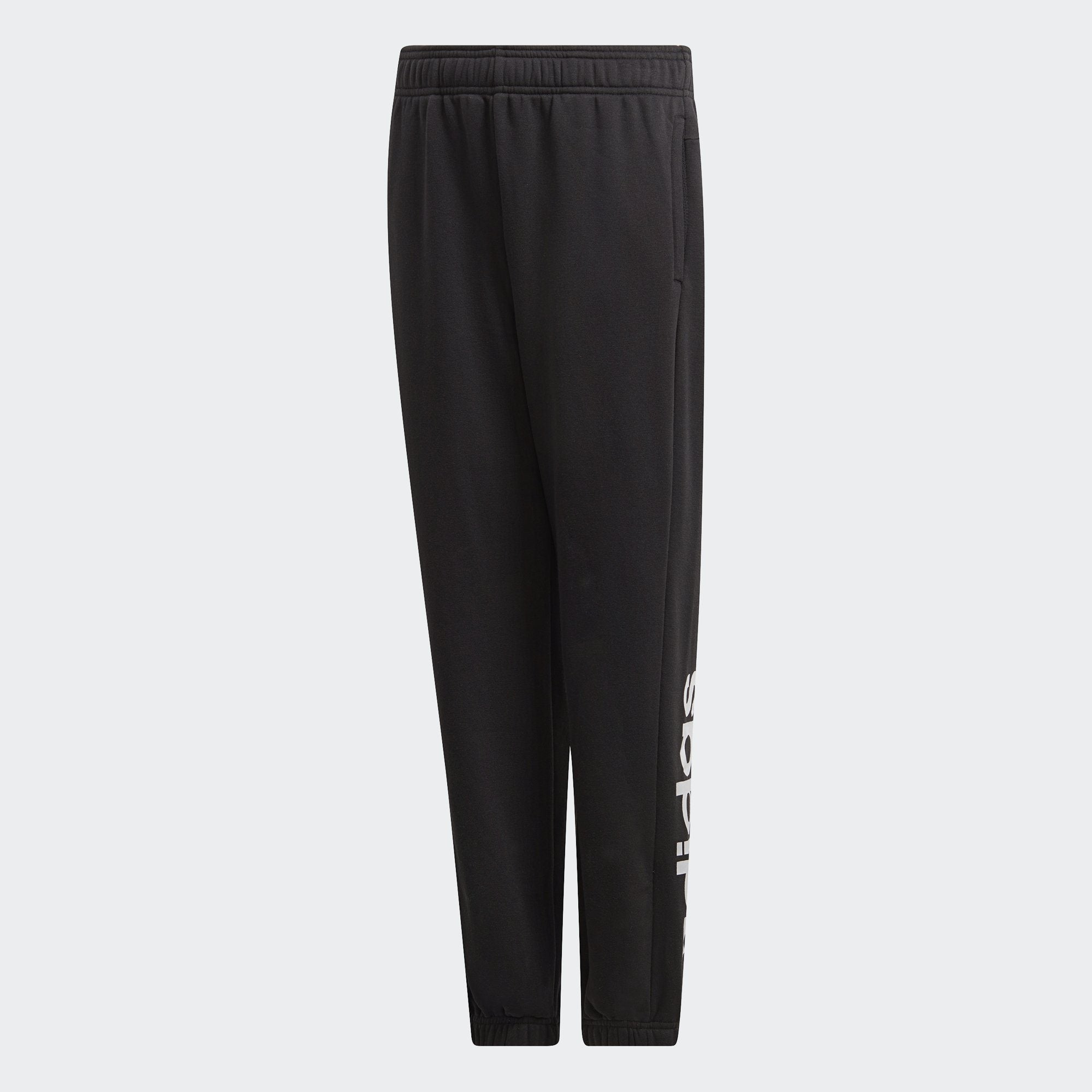 Adidas Boys Essentials Linear Pants - black-white Boys Apparel Adidas