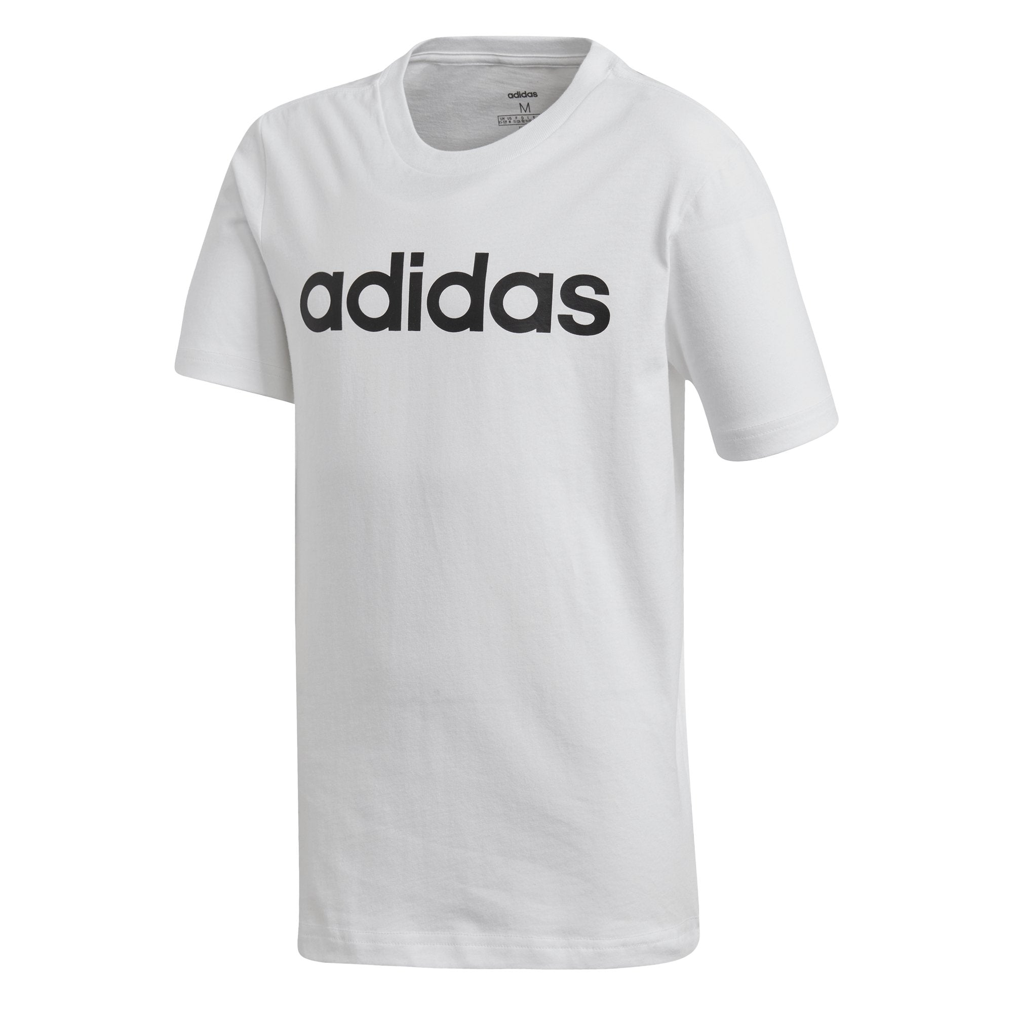 Adidas Boys Essentials Linear Logo Tee - white-black Boys Apparel Adidas