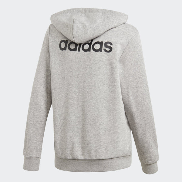 Adidas Boys Essentials Linear Hoodie - medium grey heather-black Boys Apparel Adidas