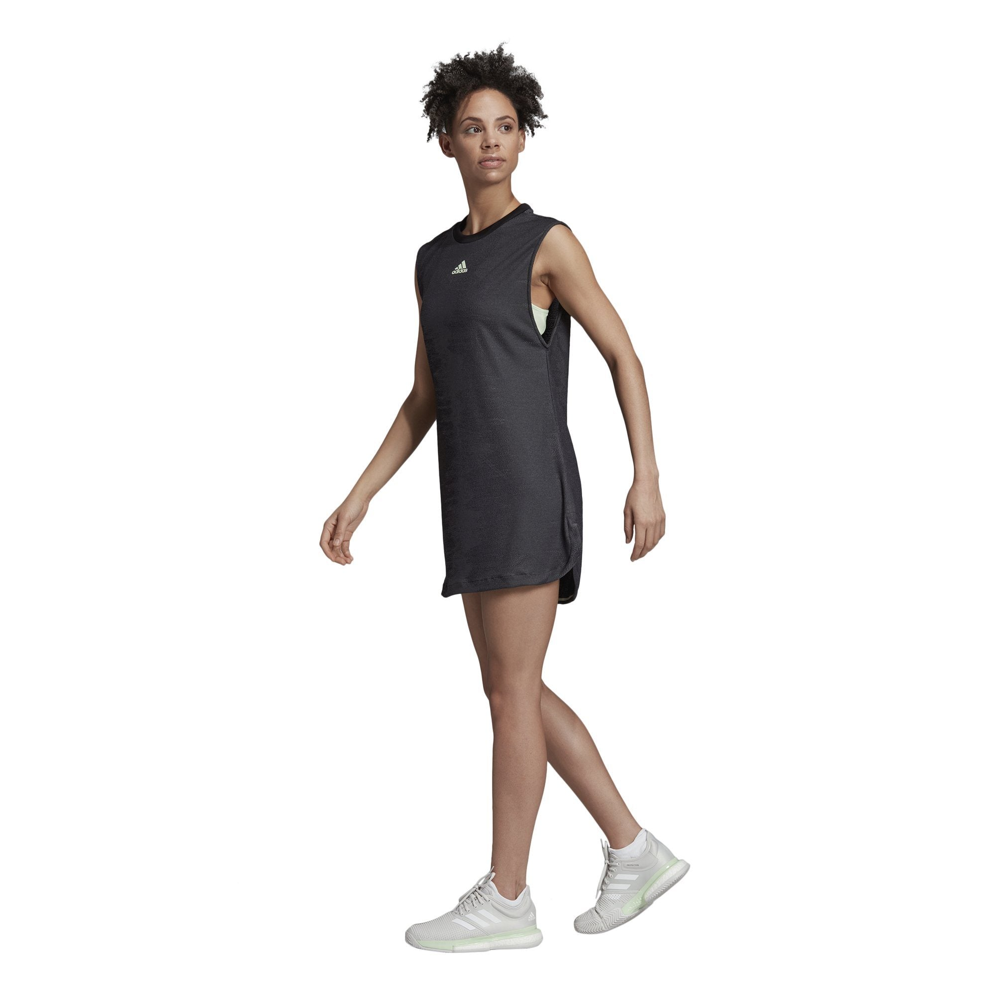 Adidas Womens New York Dress - black/glow green SP-APPARELDRESS-WOMENS Adidas