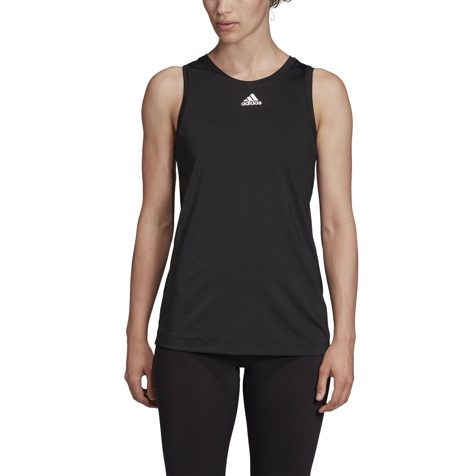 Adidas 2Way 3 Stripe Tie Tank - Black SP-ApparelTanks-Womens Adidas