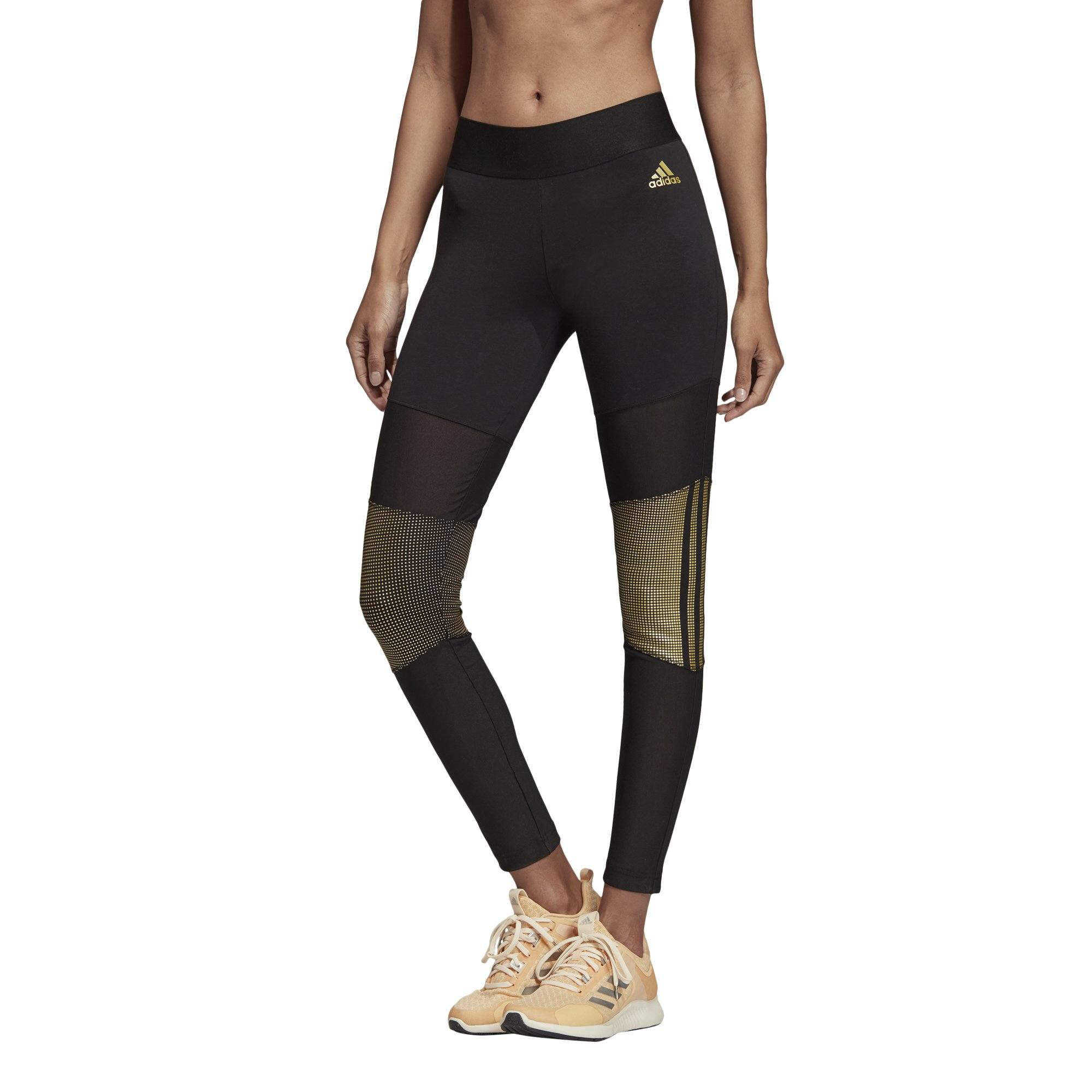 Adidas Womens ID Glam Tights - black SP-APPARELTIGHTS-WOMENS Adidas