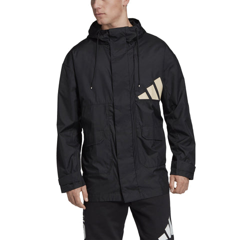 Adidas Mens adidas Athletics Pack Parka - black SP-APPARELJACKETS-MENS Adidas