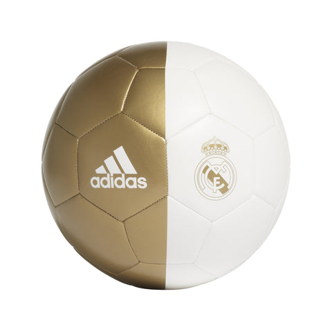 Adidas Mens Real Madrid Capitano Ball (Size 5) - white/dark football gold SP-BALLS-SOCCER Adidas