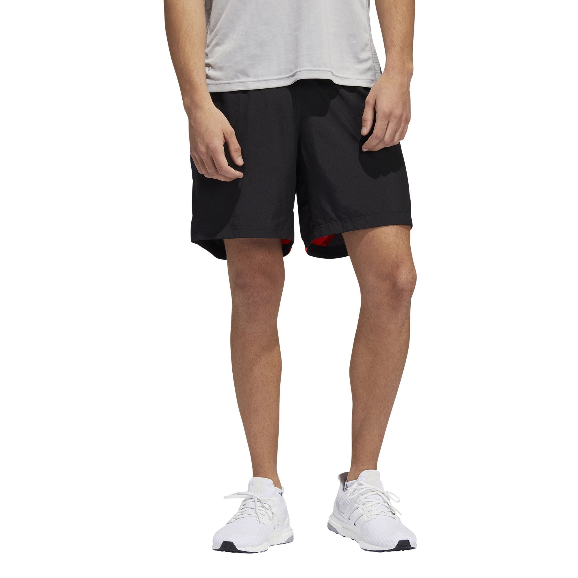 Adidas Mens Own the Run Shorts - black/active orange SP-APPARELSHORTS-MENS Adidas