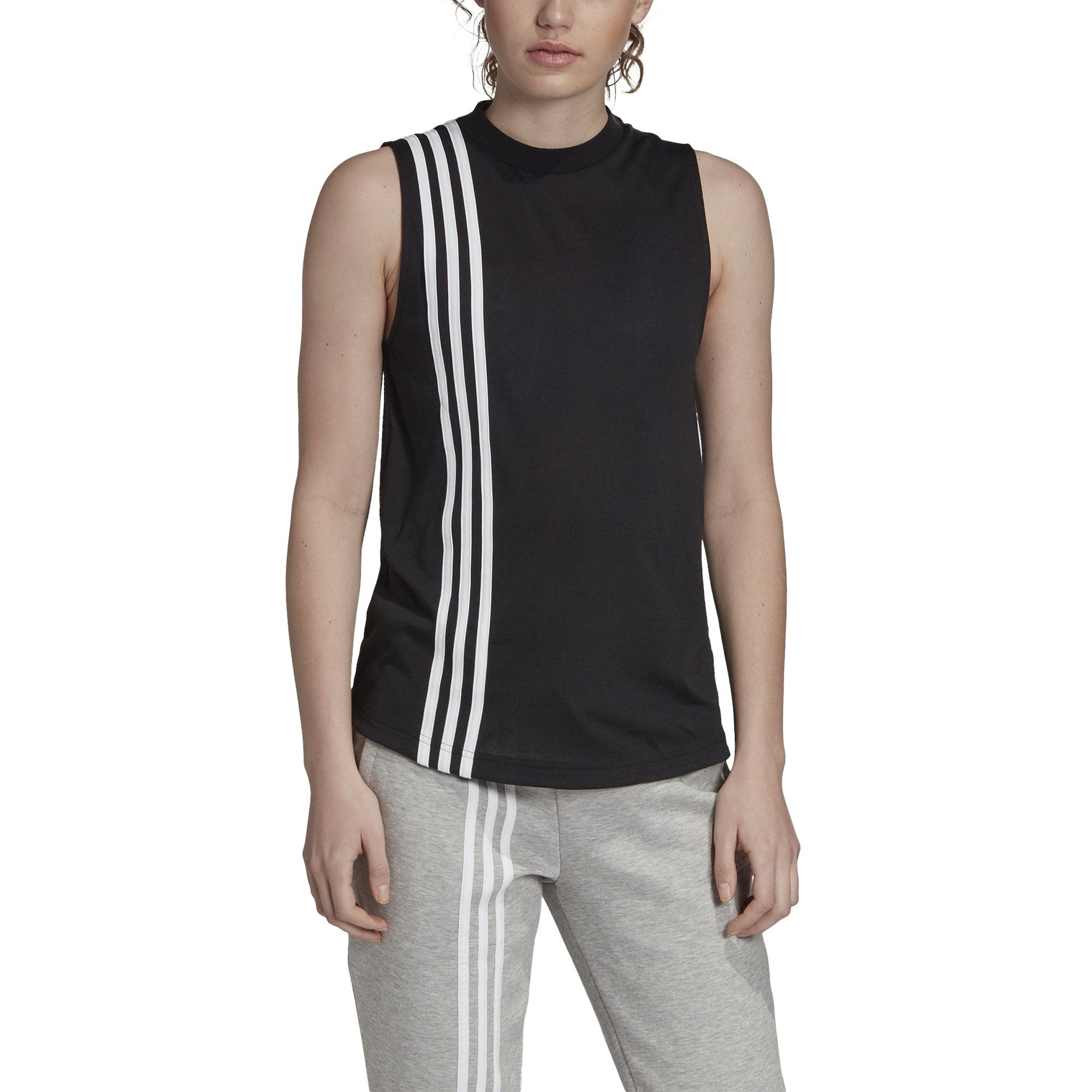 Adidas Womens Must Haves 3-Stripes Tank Top - black/white SP-APPARELTANK-WOMENS Adidas