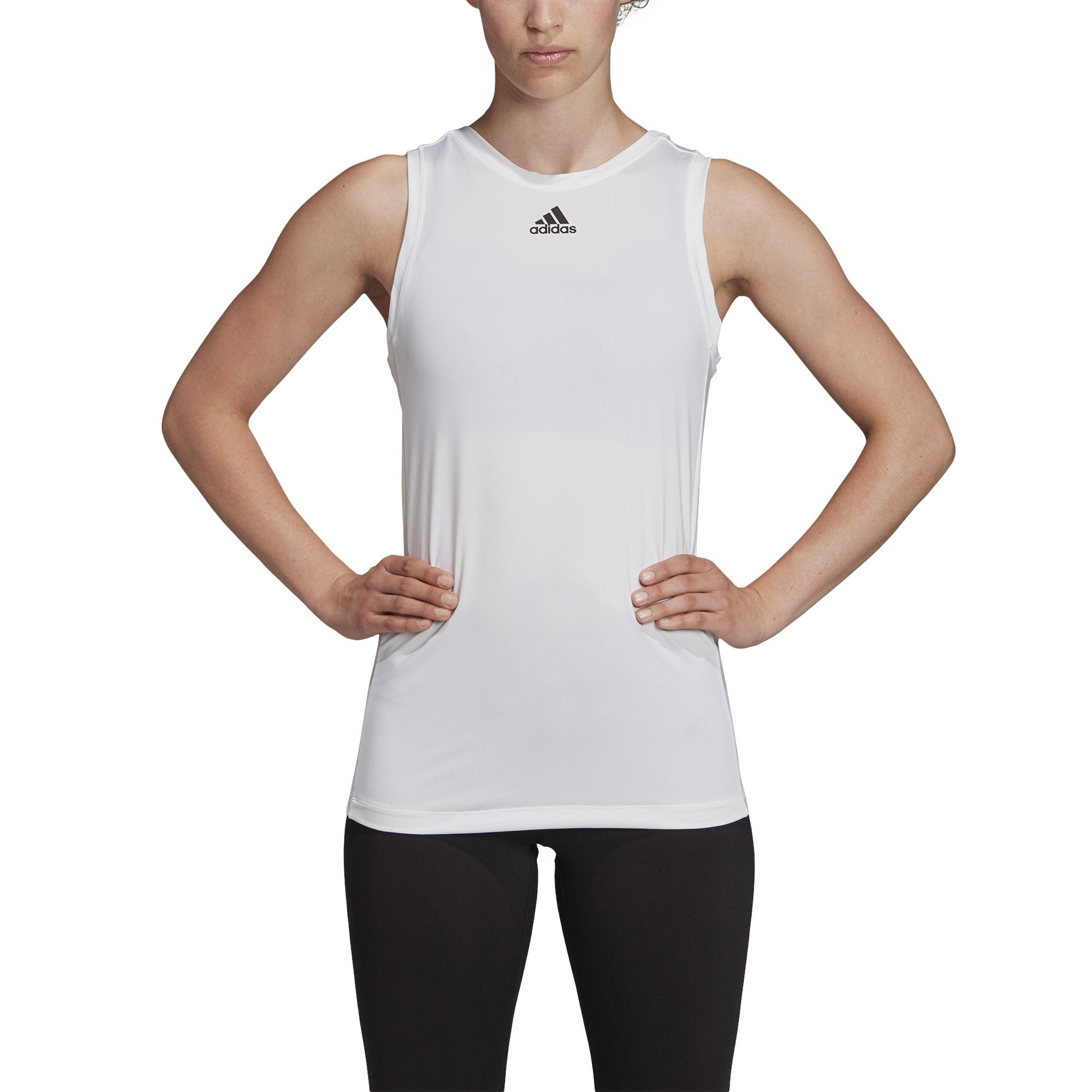 Adidas 2Way 3 Stripe Tie Tank - White SP-ApparelTanks-Womens Adidas