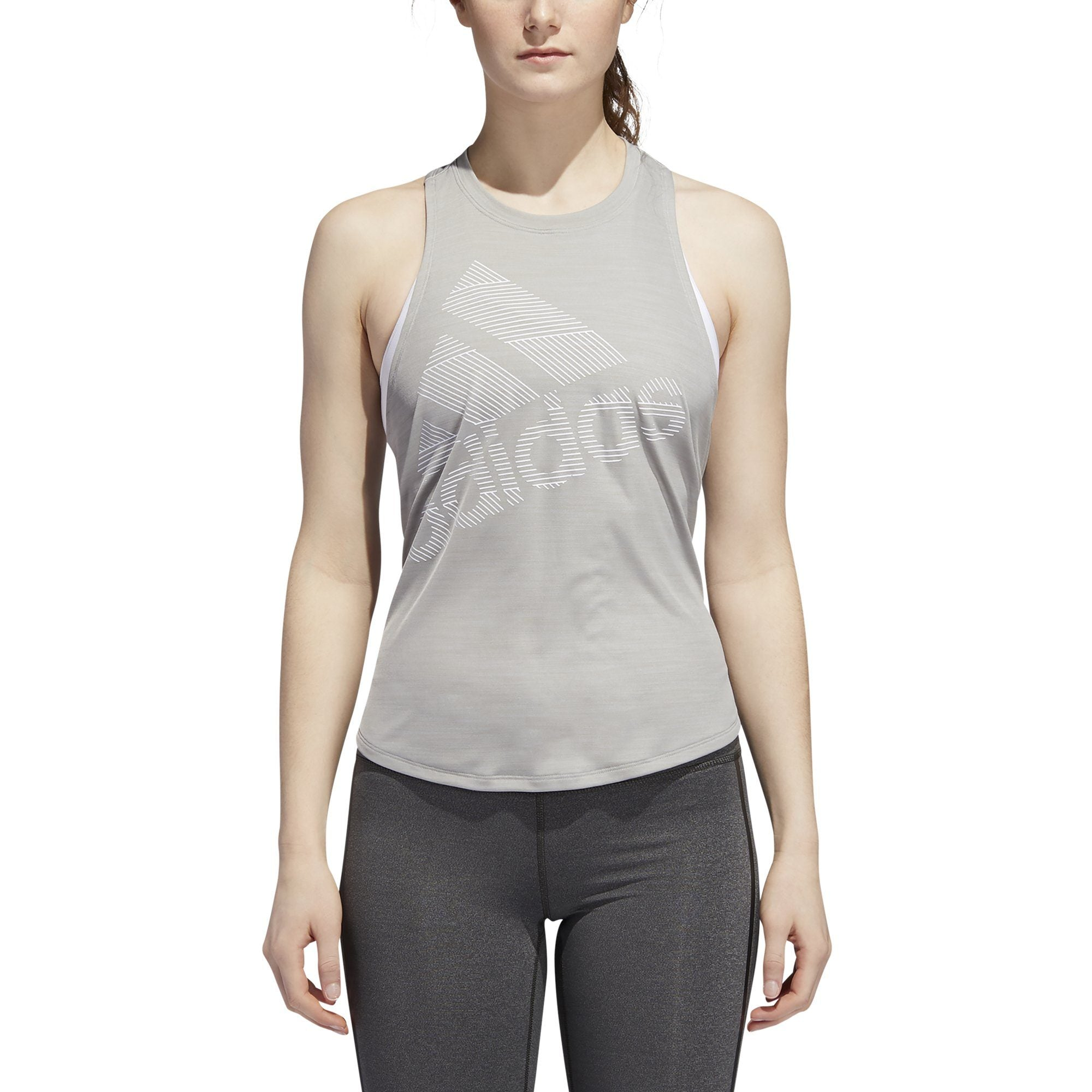 Adidas Womens Badge of Sport Tank Top - mgh solid grey SP-APPARELTANK-WOMENS Adidas