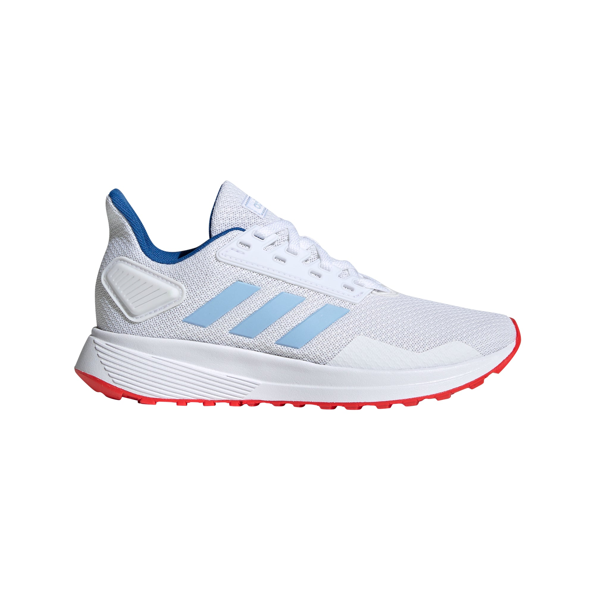 Adidas Kids Duramo 9 - Ftwr White/Glow Blue/Active Red
