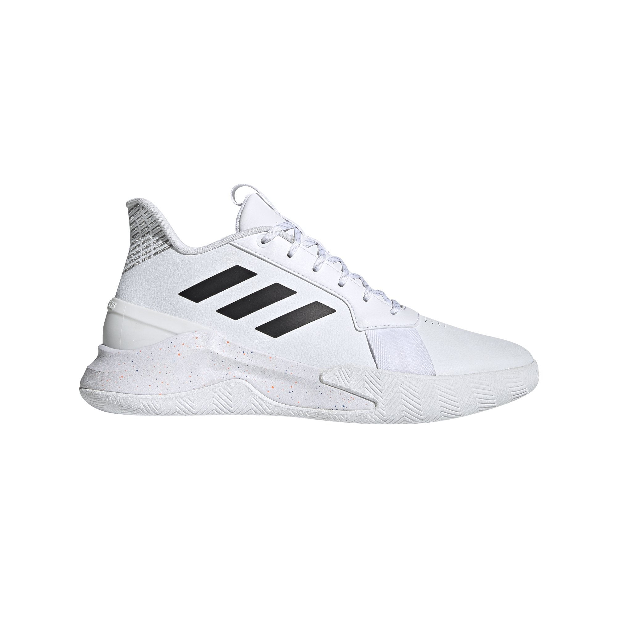 adidas core black cheap white and blue shoes