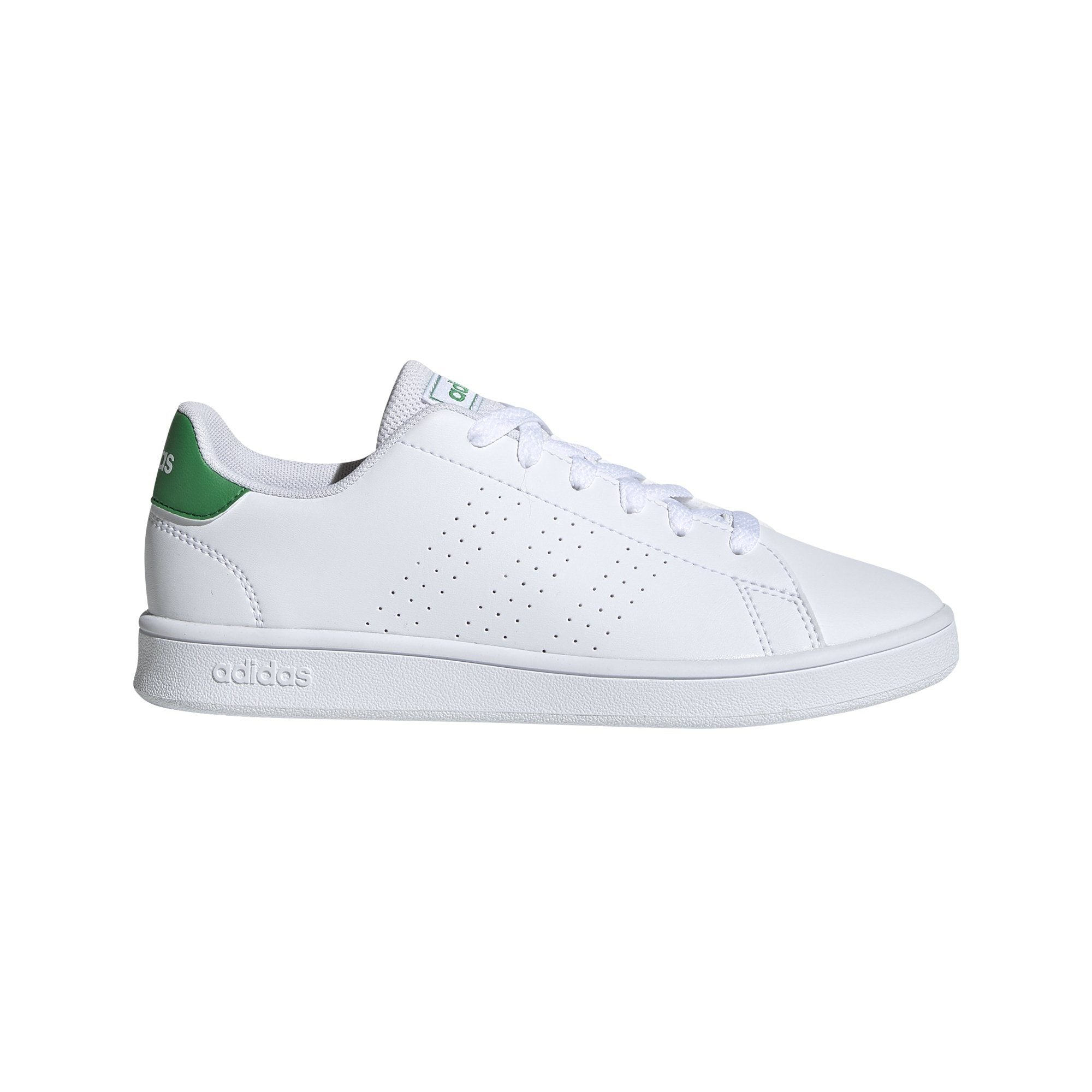 Adidas Kids Advantage Shoes - Ftwr White/Green/Grey Two SP-Footwear-Kids Adidas