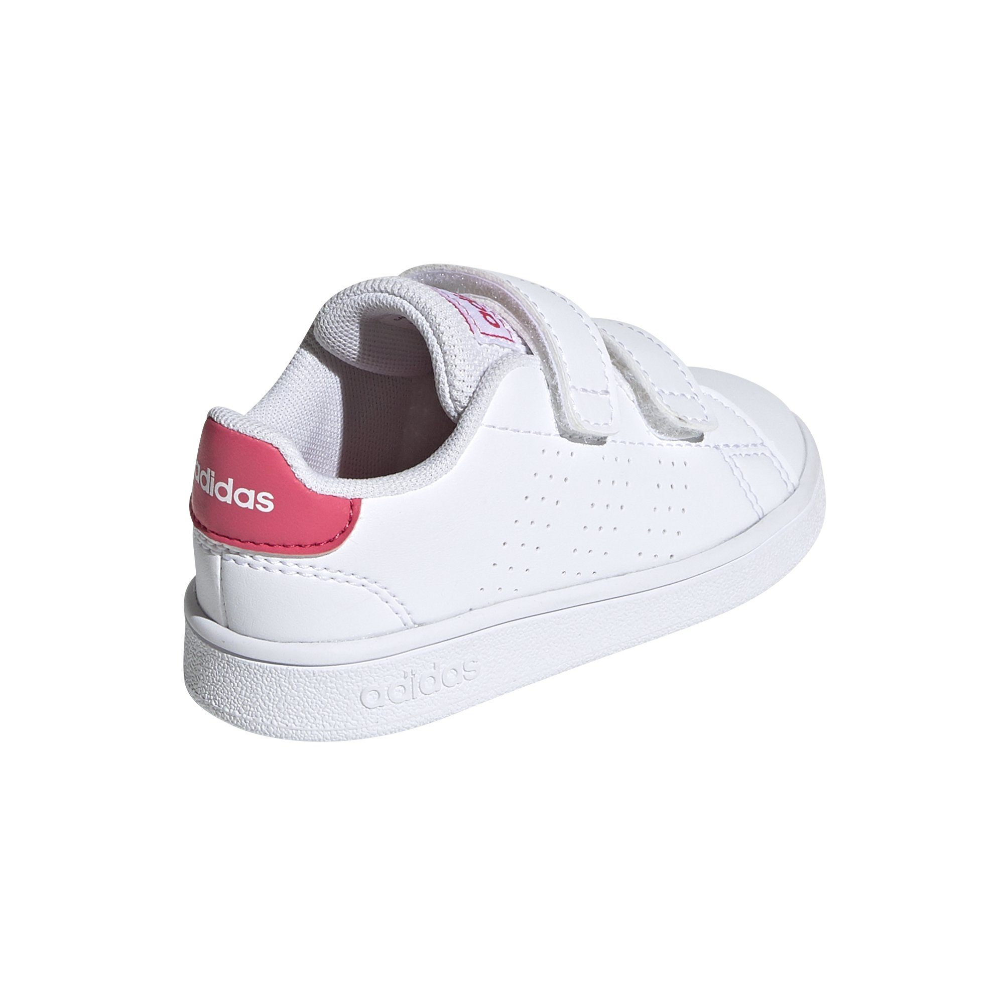 Adidas Infant Advantage Shoes - White/Real Pink SP-Footwear-Kids Adidas