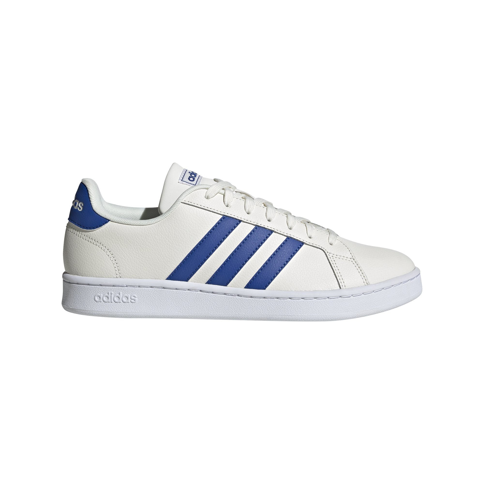 Adidas Mens Grand Court Shoes - Cloud White/Team Royal Blue/Ftwr White SP-Footwear-Mens Adidas