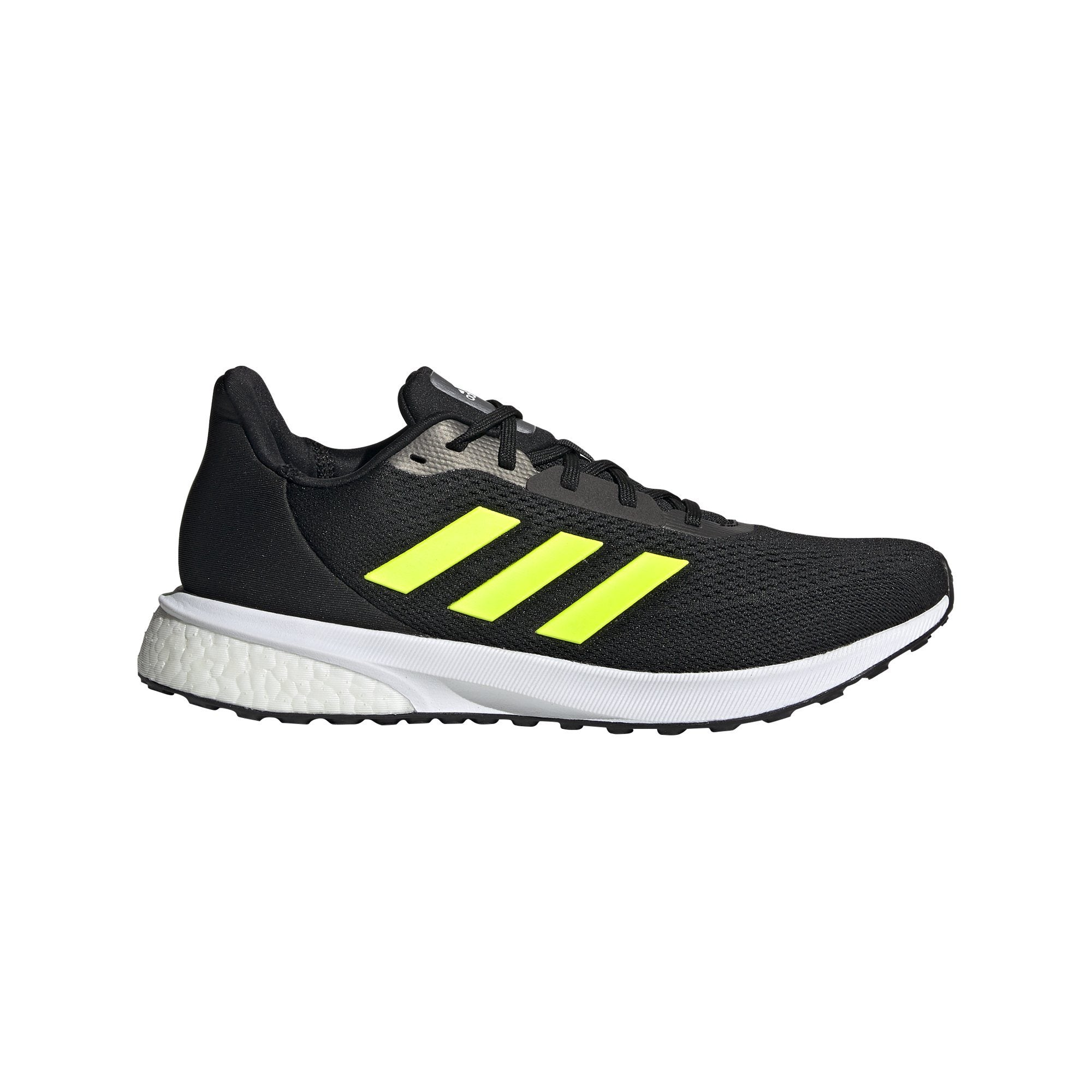 Adidas Mens Astrarun Shoes - Core Black/Solar Yellow/Core Black SP-Footwear-Mens Adidas