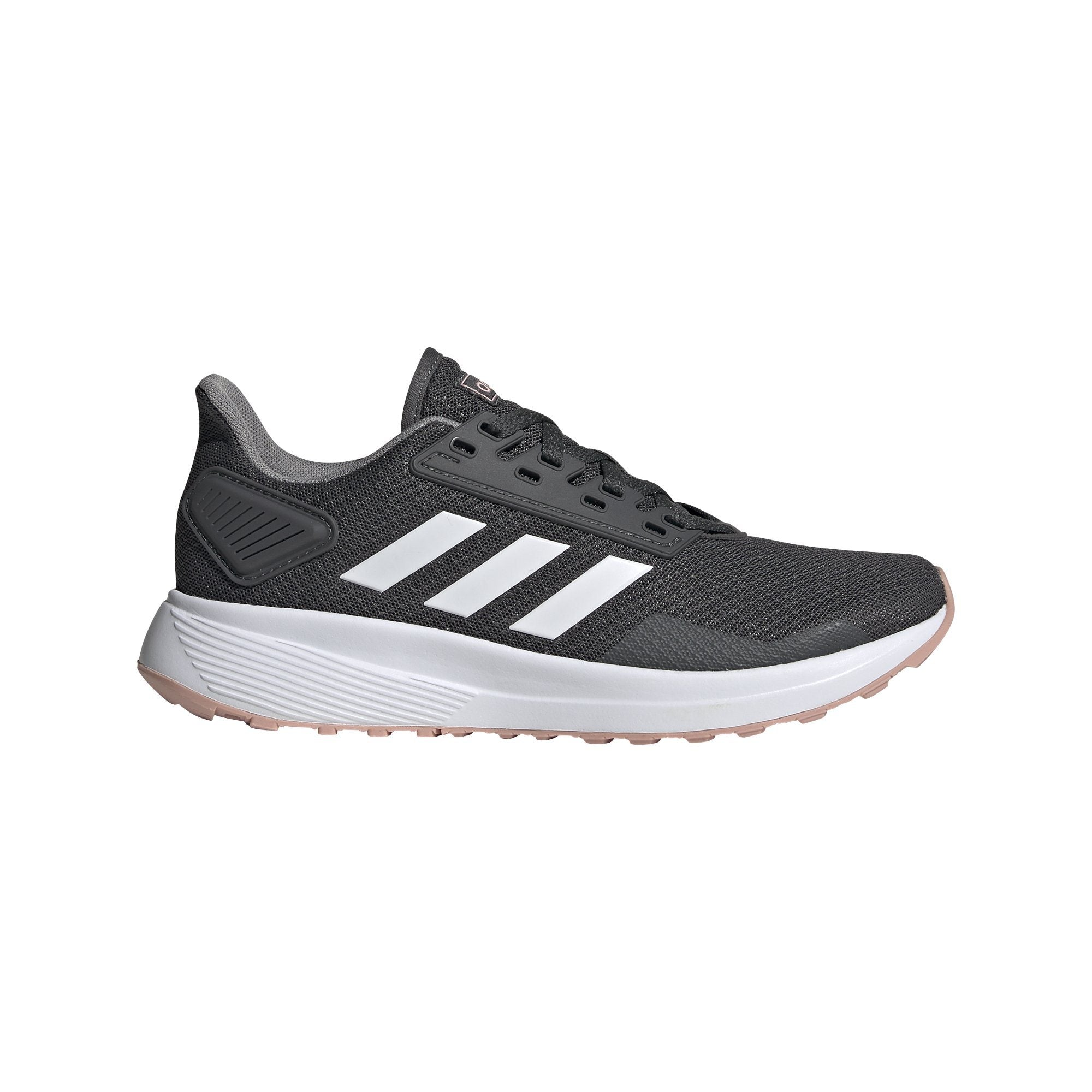 Adidas Womens Duramo 9 Shoes - Grey Six/Ftwr White/Pink Spirit SP-Footwear-Womens Adidas
