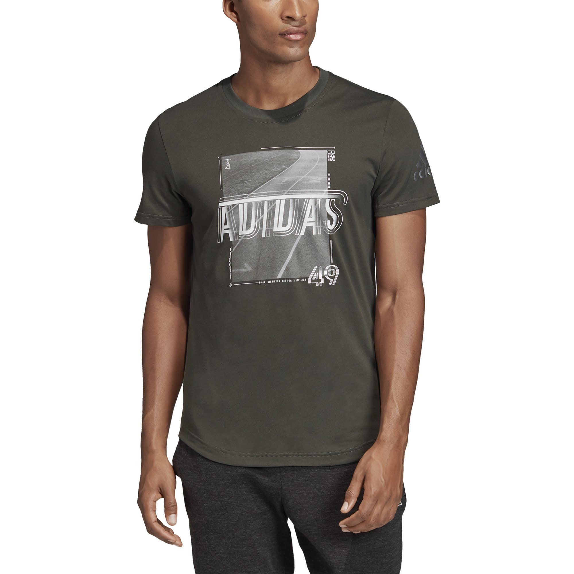 Adidas Mens Sport ID Foil Tee - legend earth SP-APPARELTEES-MENS Adidas