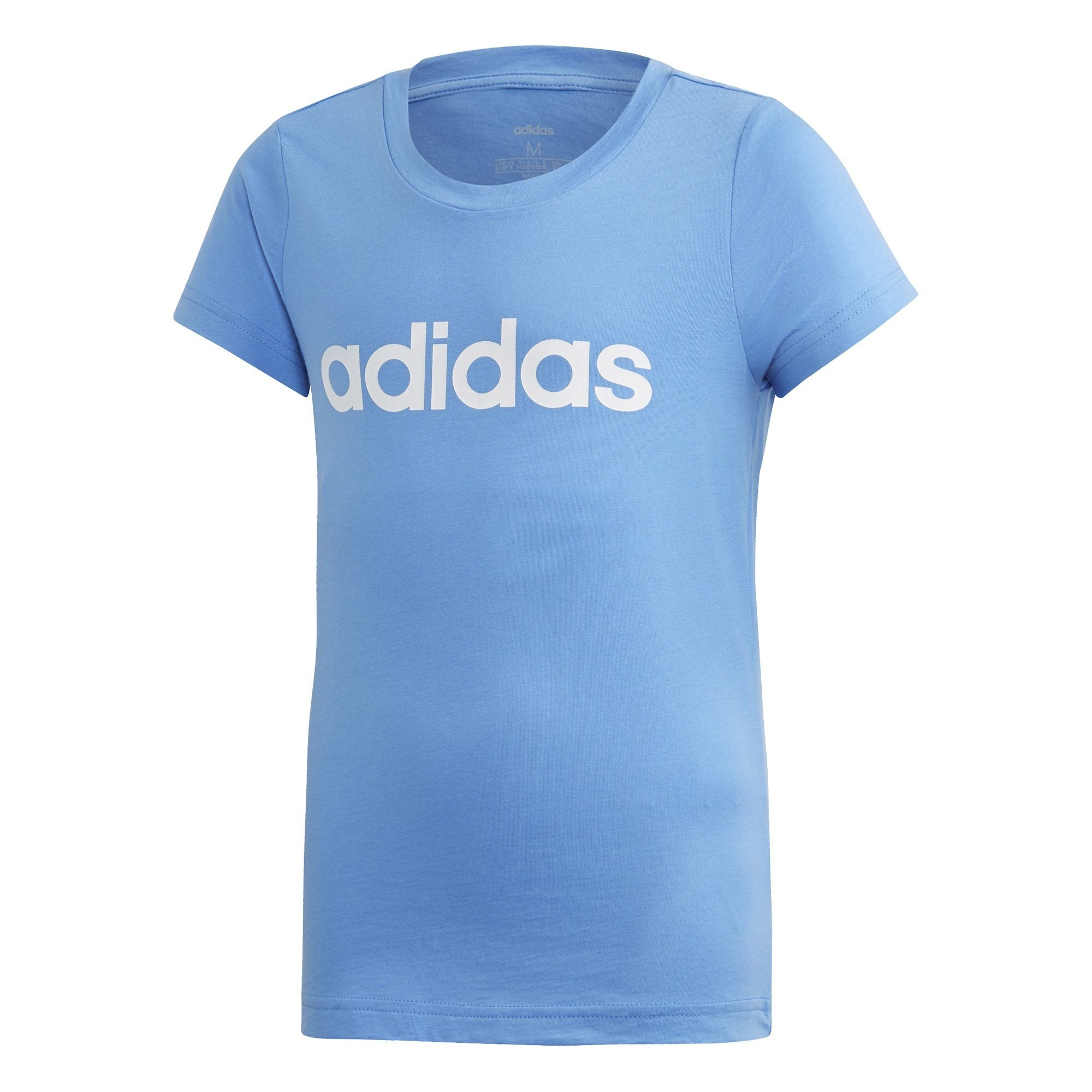 Adidas Girls Essentials Linear Tee - real blue/white SP-APPARELTEES-KIDS Adidas