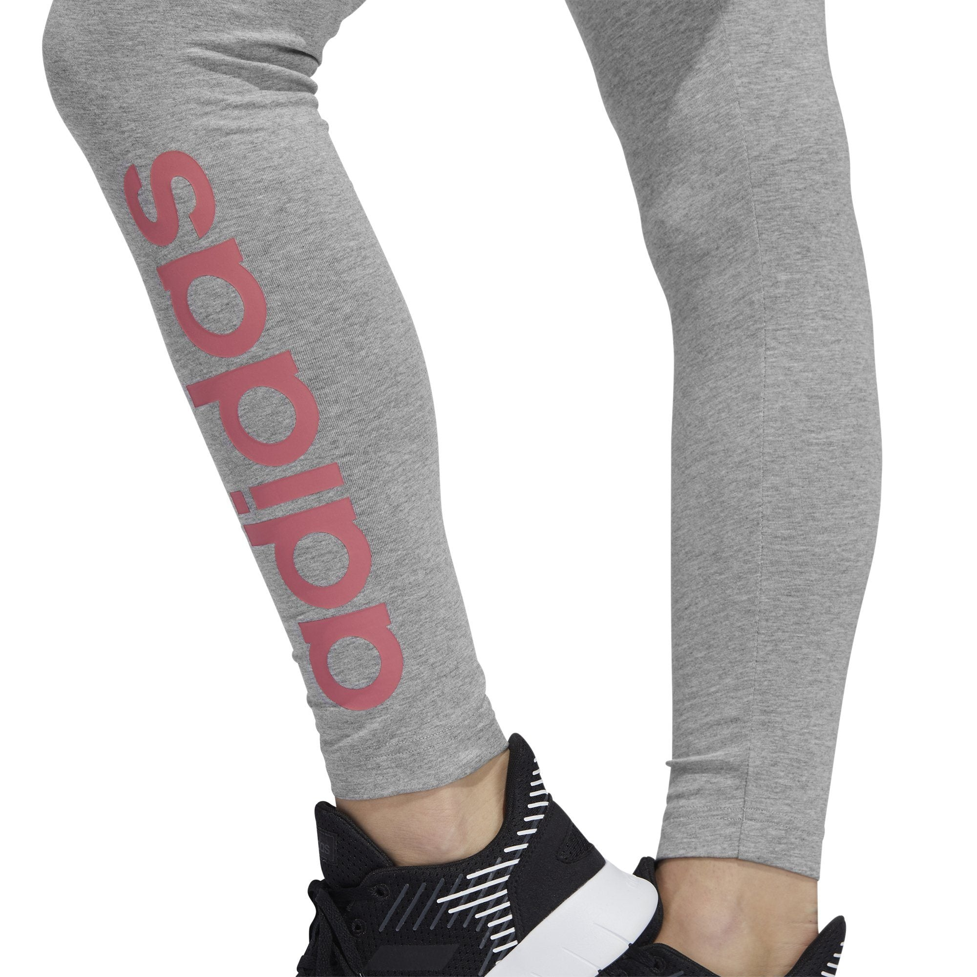 Adidas Essentials Linear Tight - Medium Grey Heather/Bliss Pink Adidas