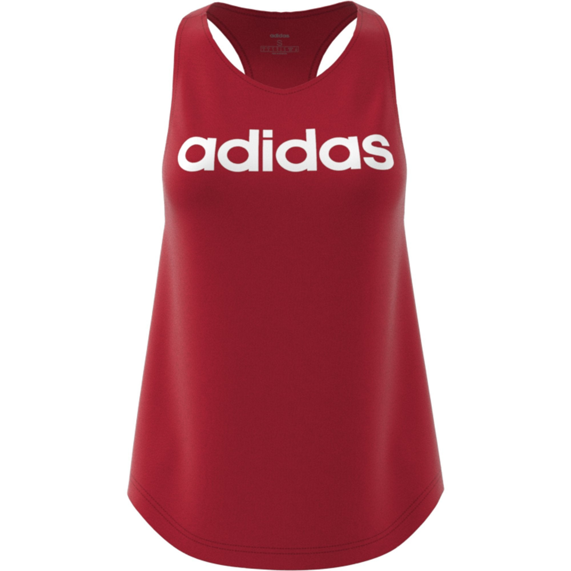 Adidas Womens Essentials Linear Tank Top - active maroon-white Womens Apparel Adidas