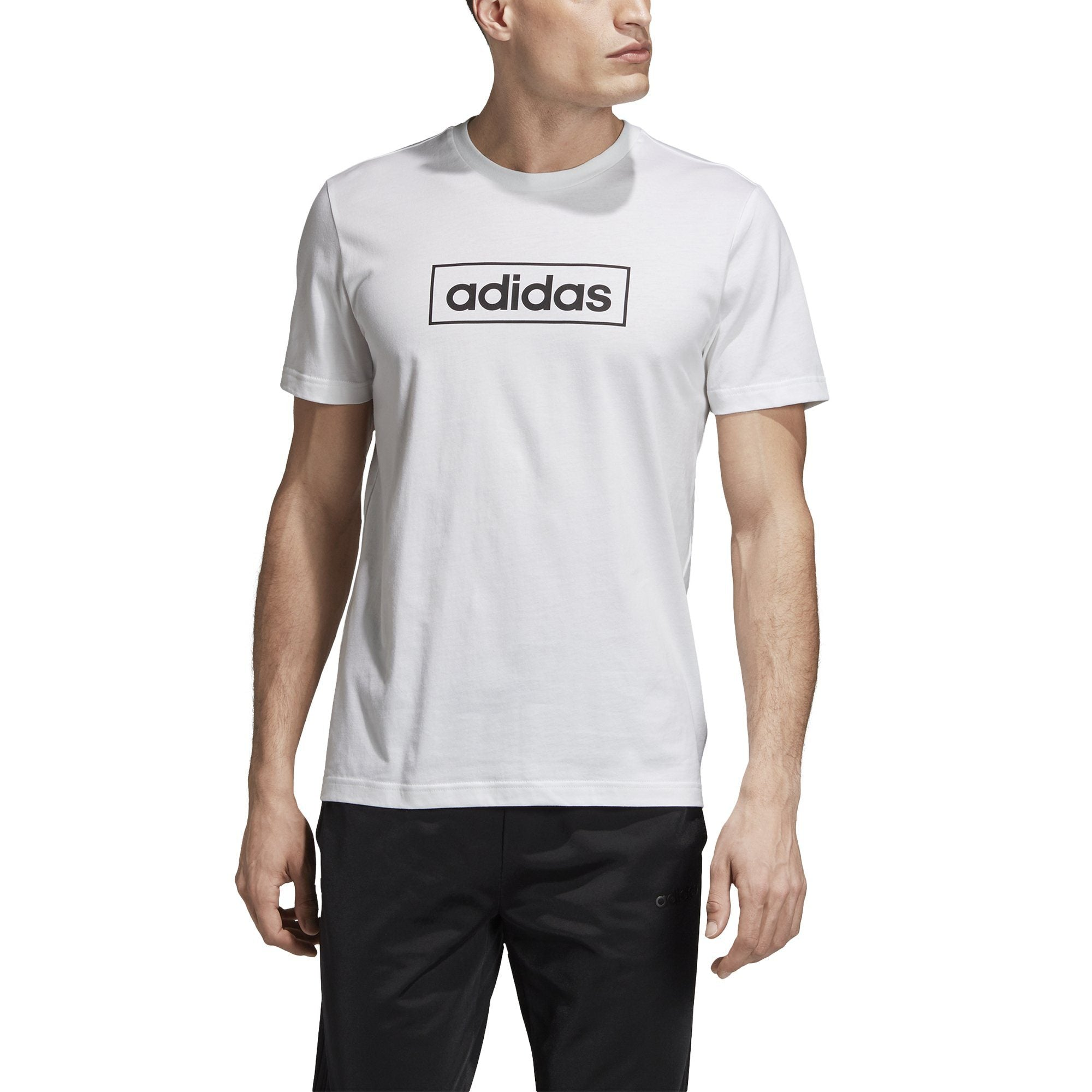 Adidas Mens Box Graphic Tee - white/black SP-APPARELTEES-MENS Adidas