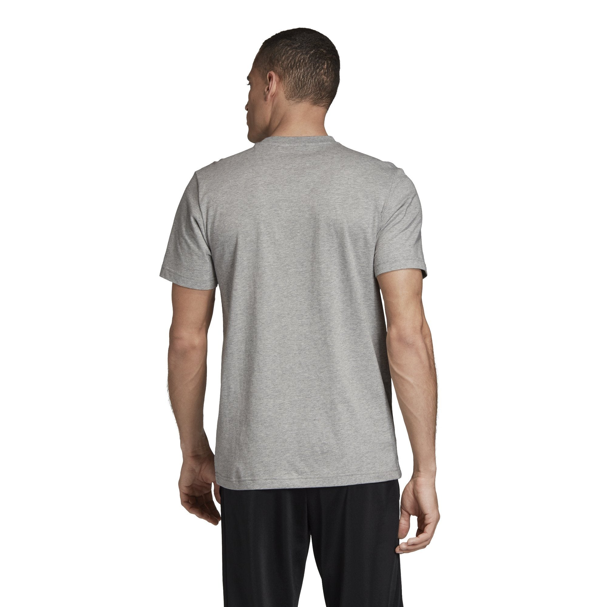 Adidas Mens Box Graphic Tee - medium grey heather/black SP-APPARELTEES-MENS Adidas