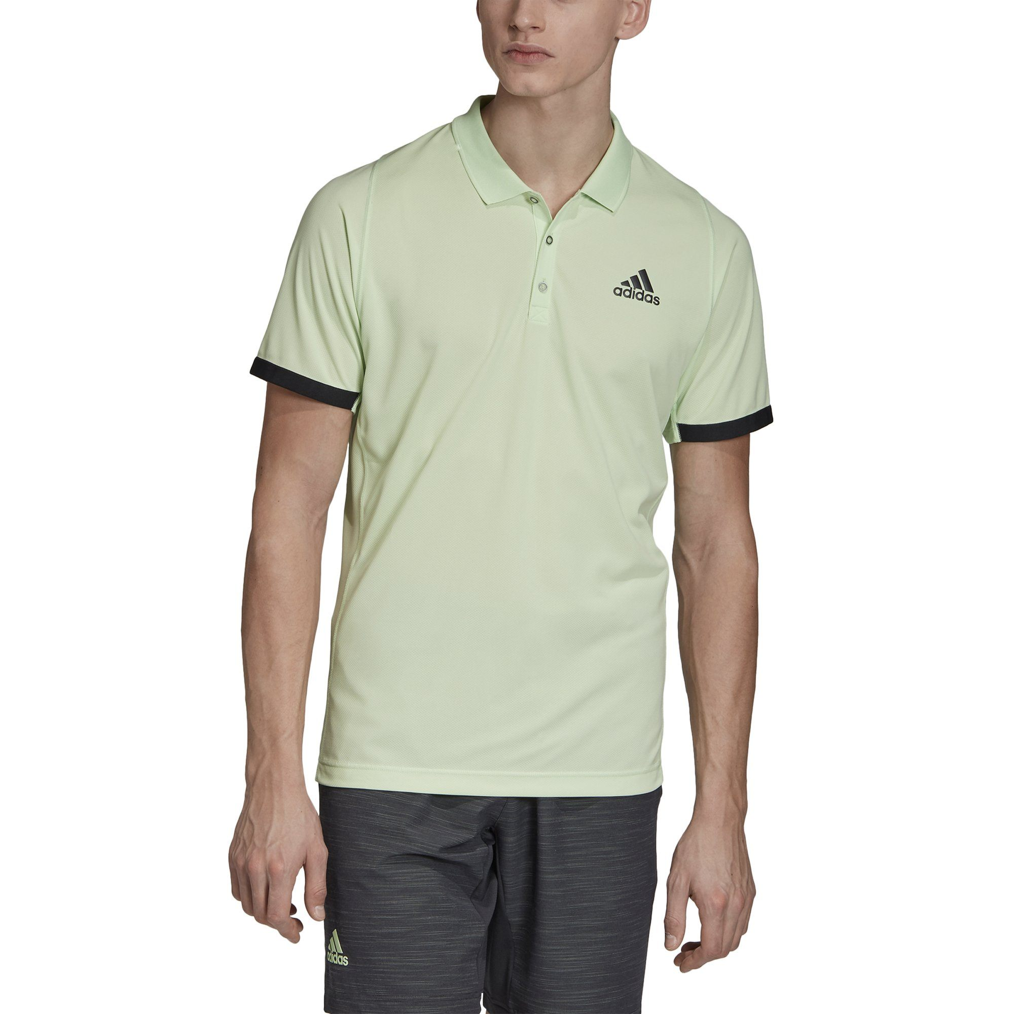 Adidas Mens New York Polo Shirt - glow green/carbon SP-APPARELTEES-MENS Adidas