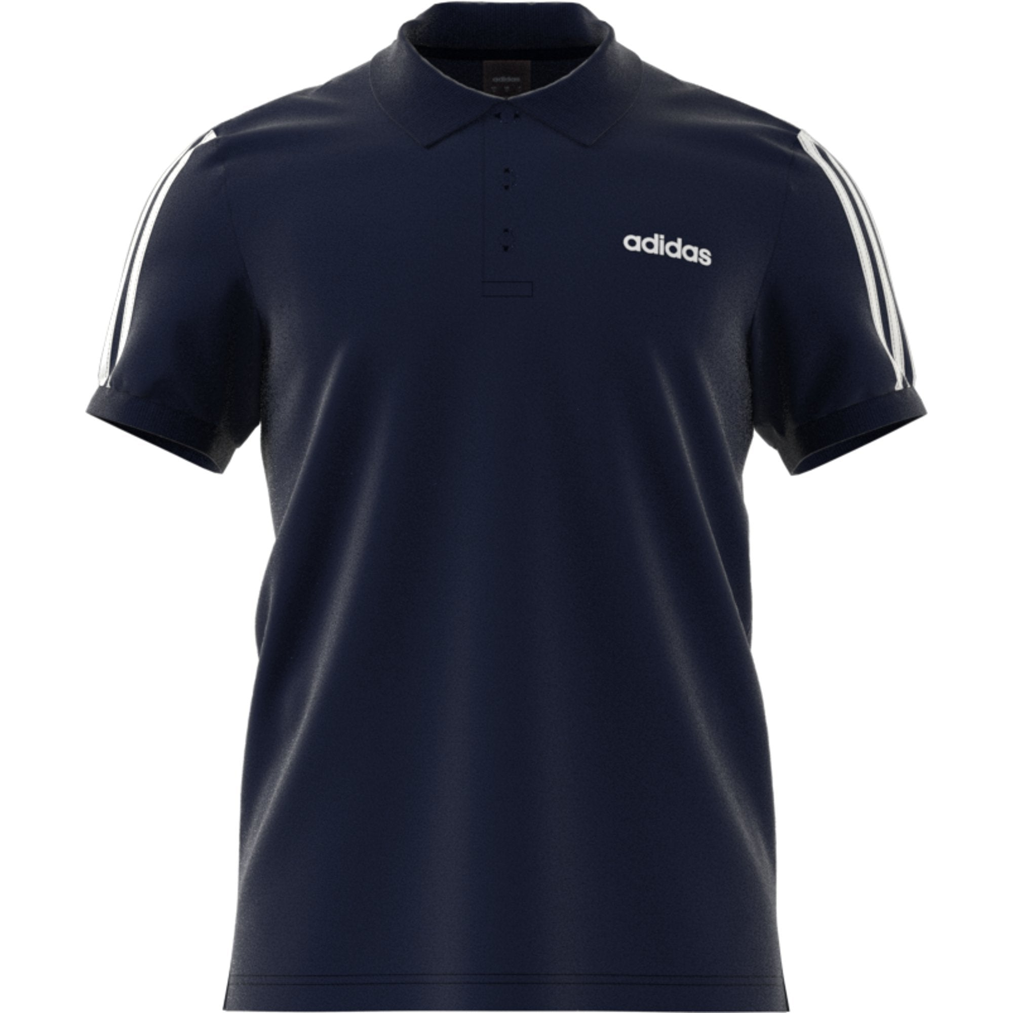 Adidas Mens 3-Stripes Polo Shirt - legend ink Mens Apparel Adidas