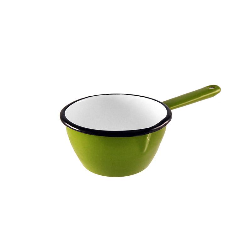 Enamel Milk Pan 12cm Green Kitchenware Malaren
