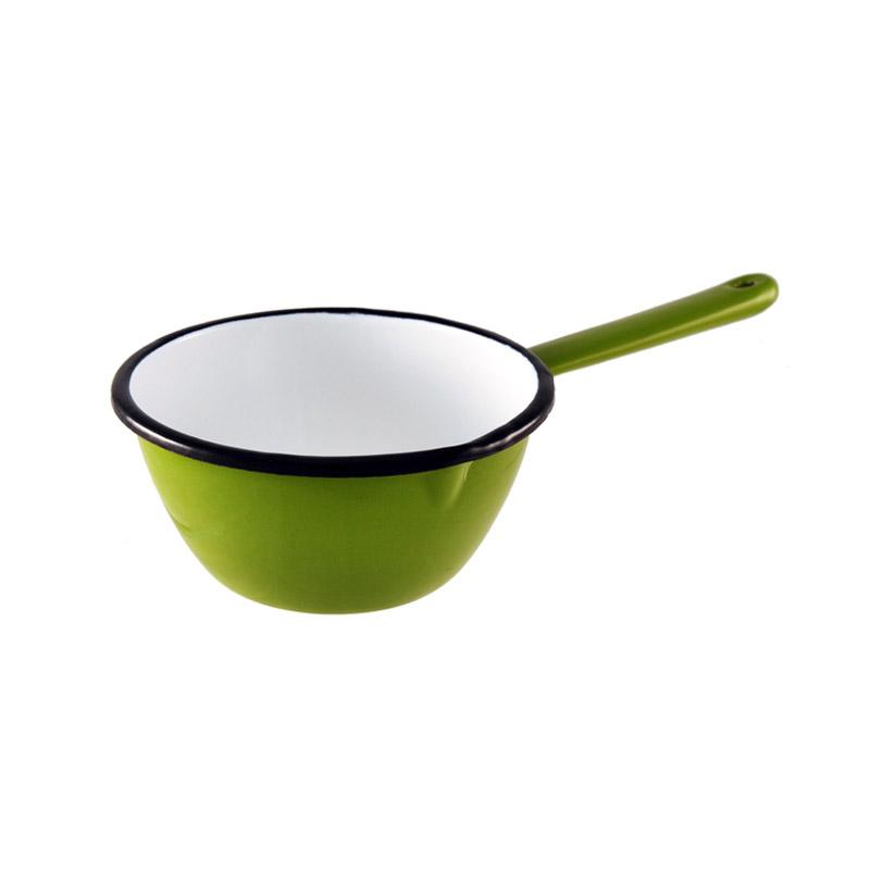 Enamel Milk Pan 14cm Green Kitchenware Malaren