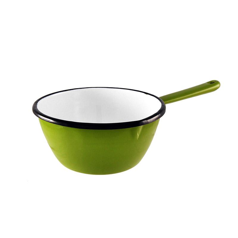 Enamel Milk Pan 16cm Green Kitchenware Malaren