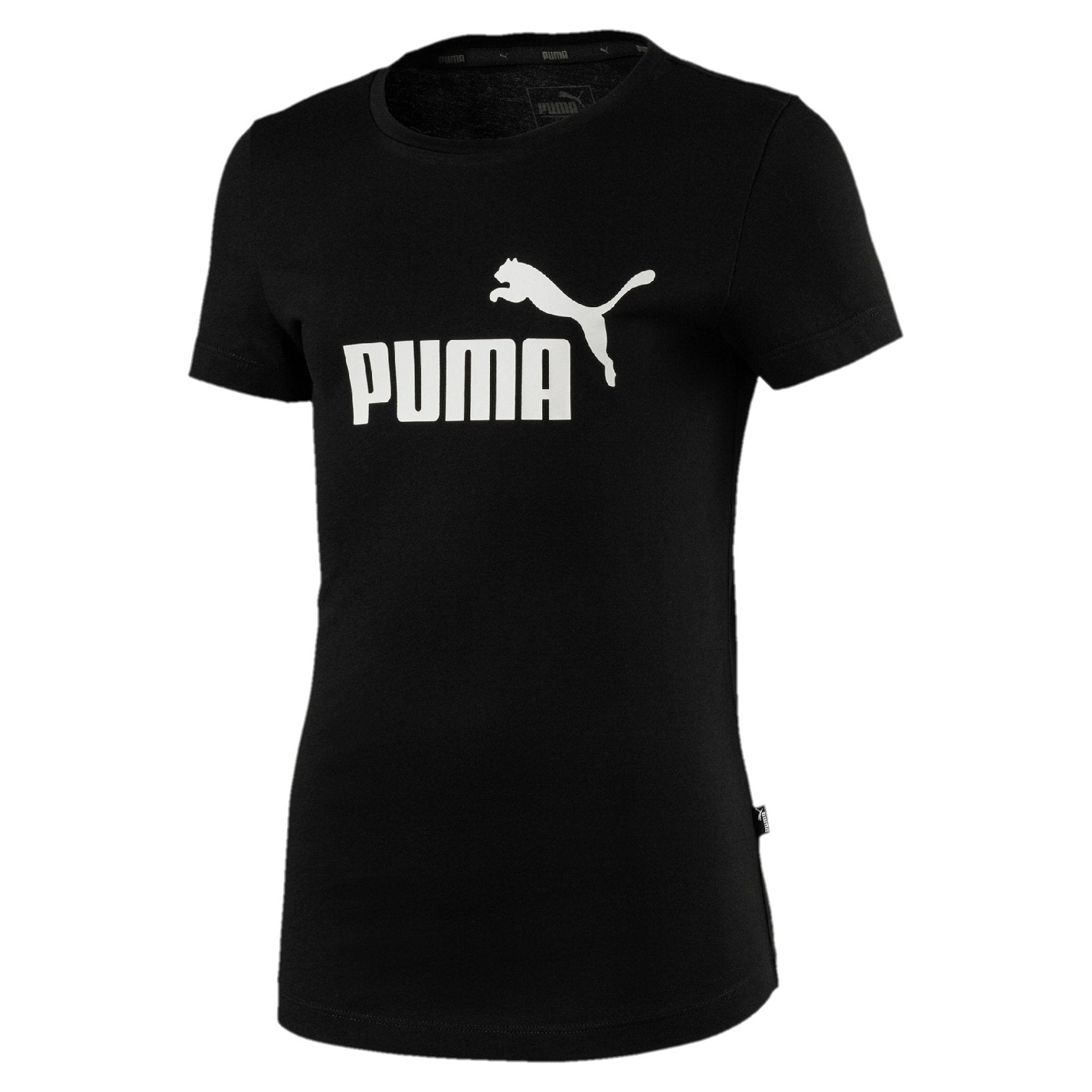 Puma Essentials Tee Girls - Cotton Black SP-ApparelTees-Kids Puma