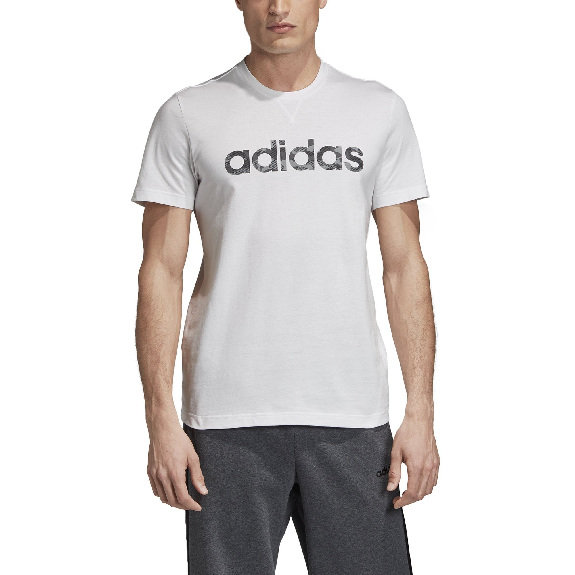 Adidas Mens Camo Linear Tee - white SP-APPARELTEES-MENS Adidas