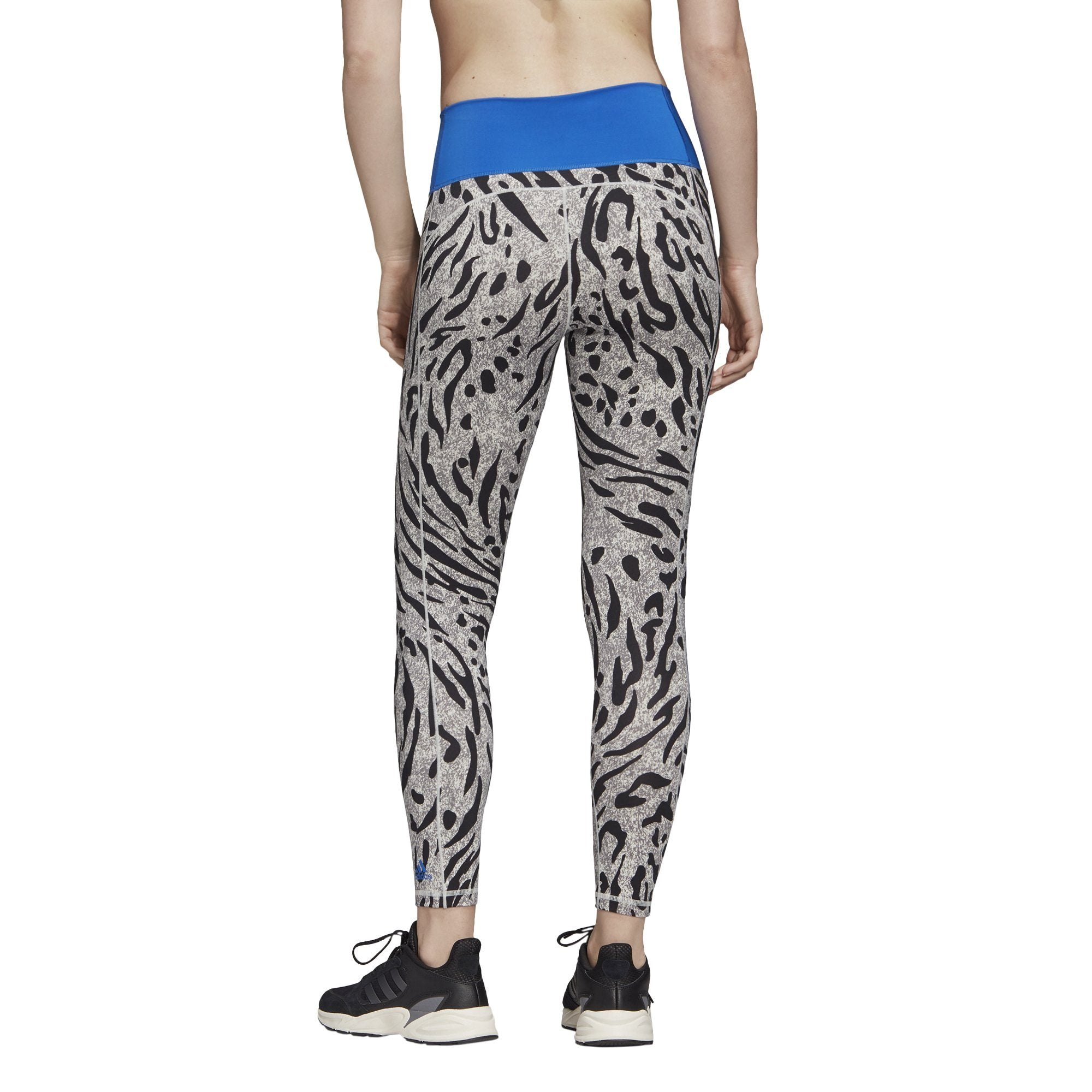 Adidas Womens Believe This 2.0 Iterations High-Rise 7/8 Tights - Grey Four F17/Print SP-ApparelTights-Womens Adidas
