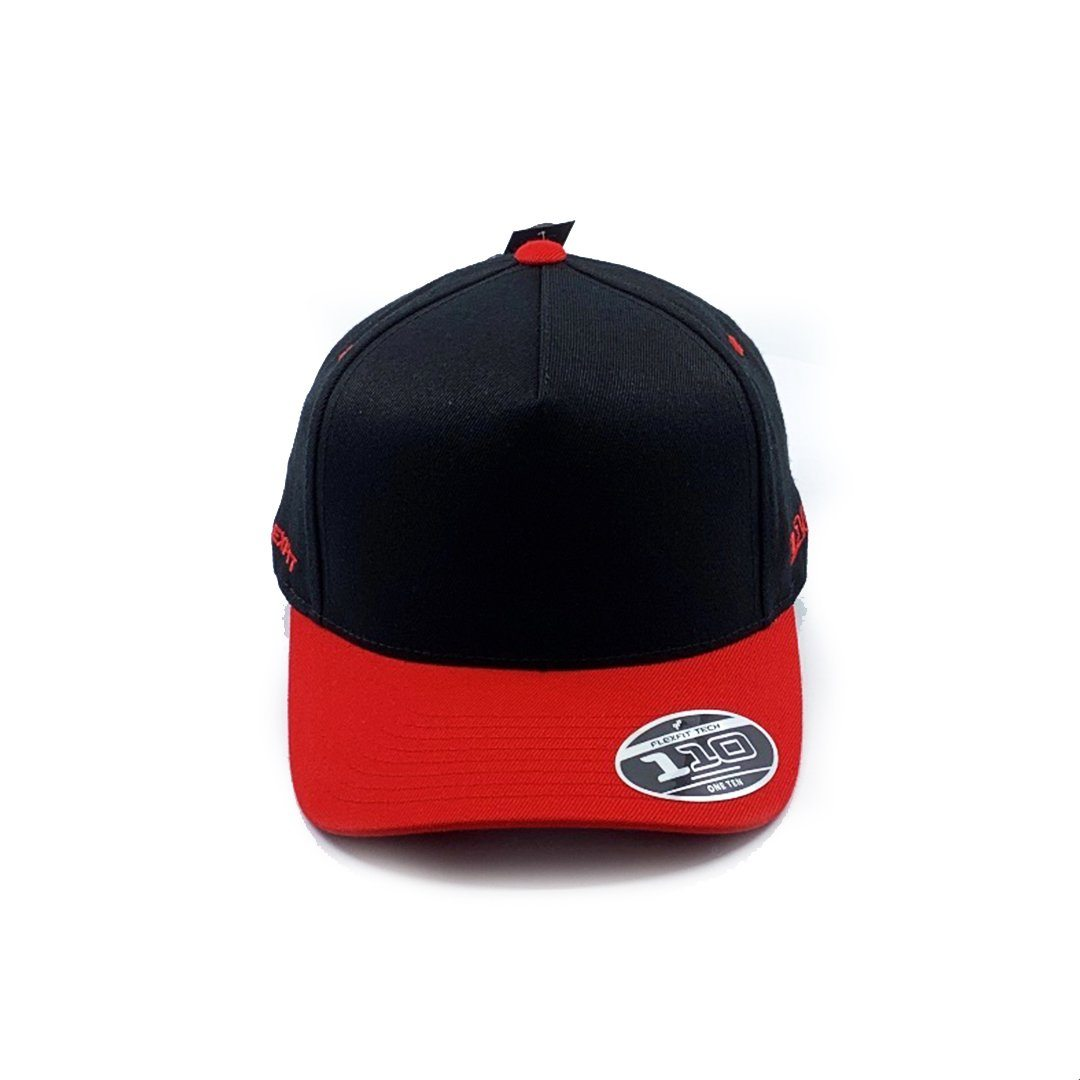 Flexfit Vintage Throwback Snapback - Black/Red SP- Headwear - Caps Flexfit