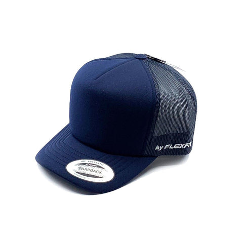 Flexfit Hi Crown Trucker Youth - Navy SP-Headwear-Caps Flexfit
